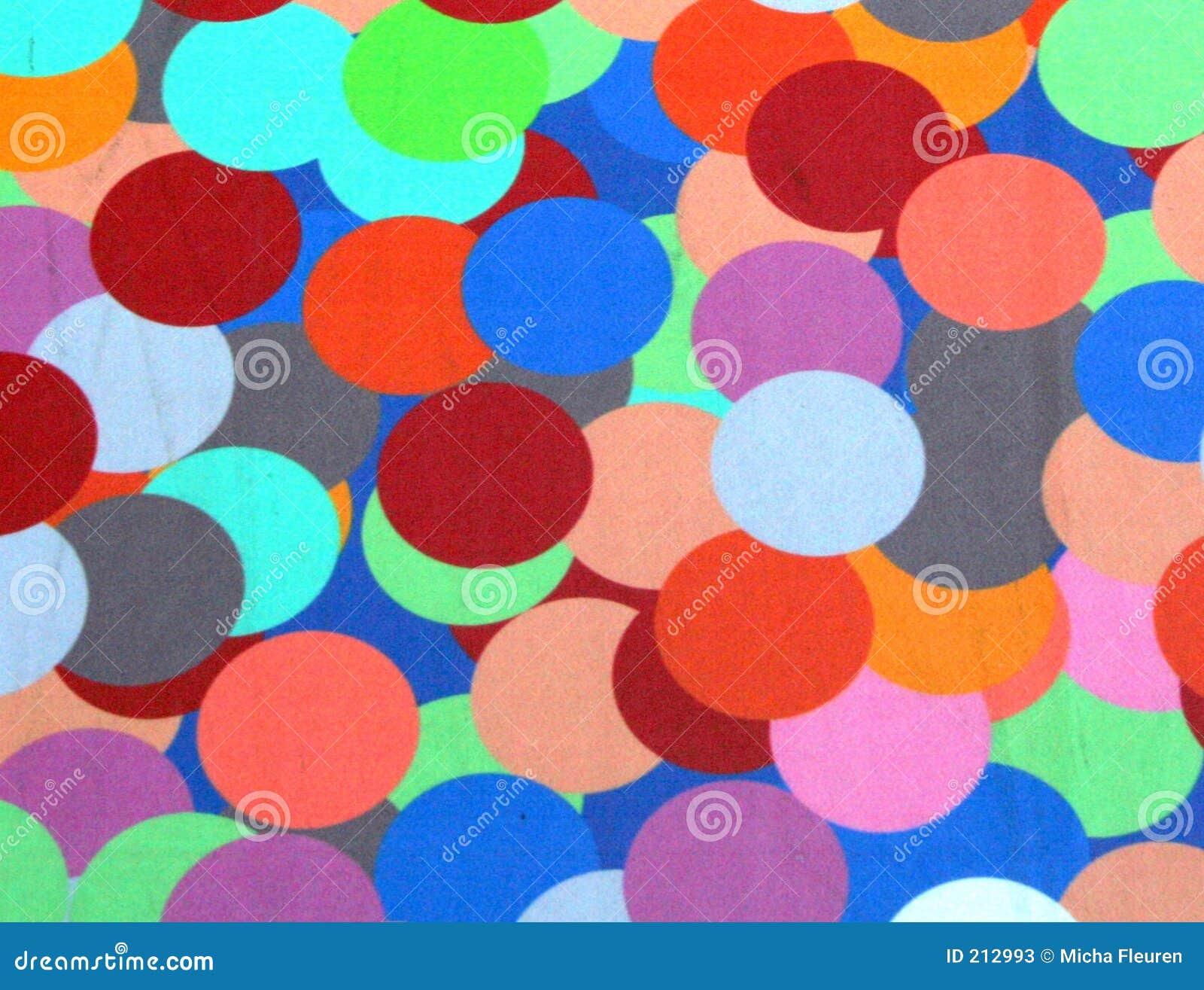Cirklar färgrikt