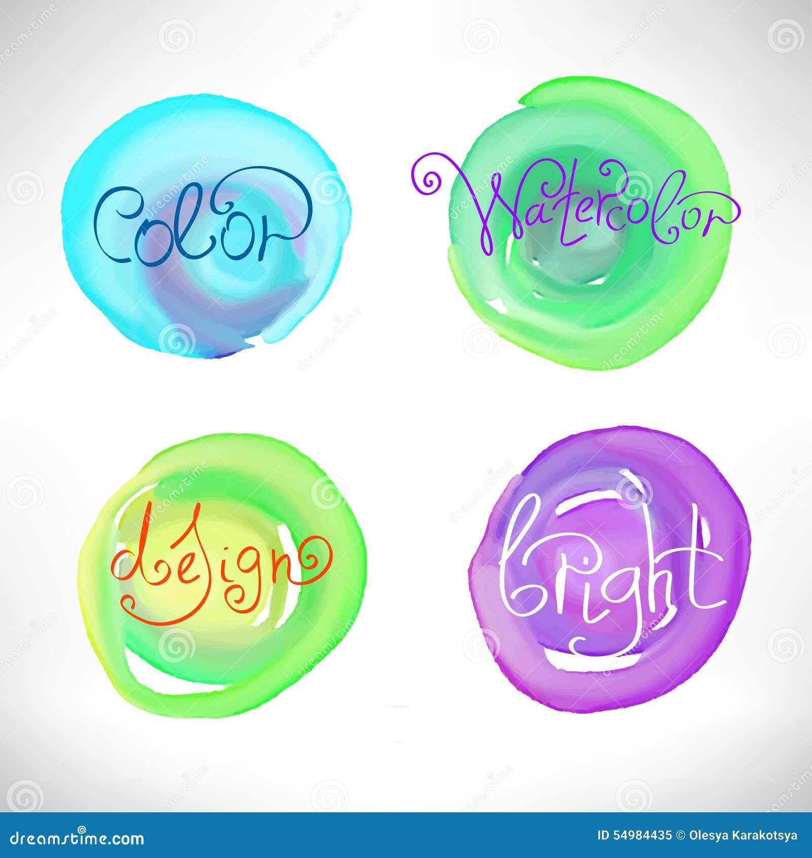 Cirklar gör sammandrag beståndsdelar för vattenfärgfärgstänkdesign