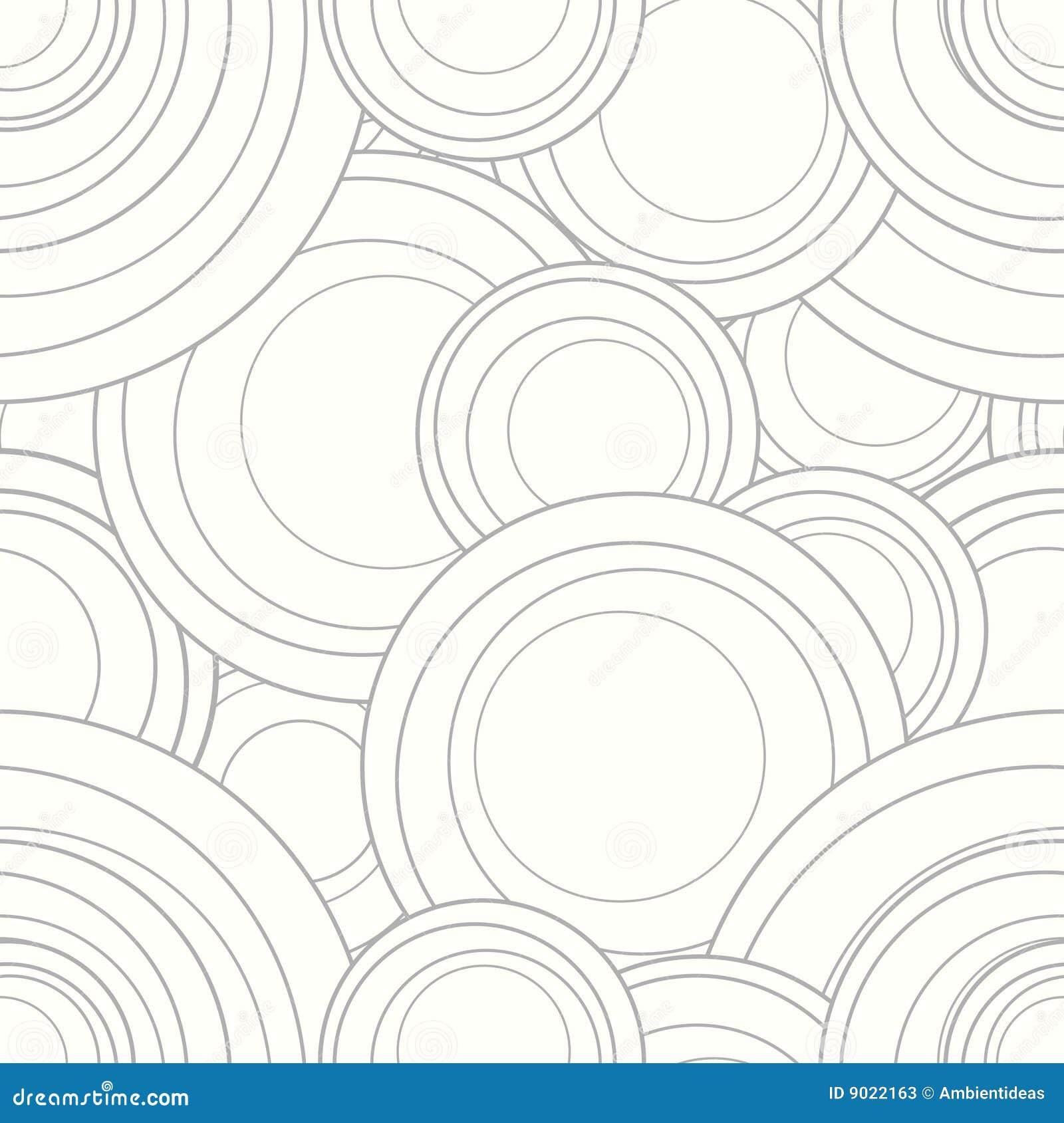 Cirklar som interlocking vektorn för modellupprepningstegelplatta