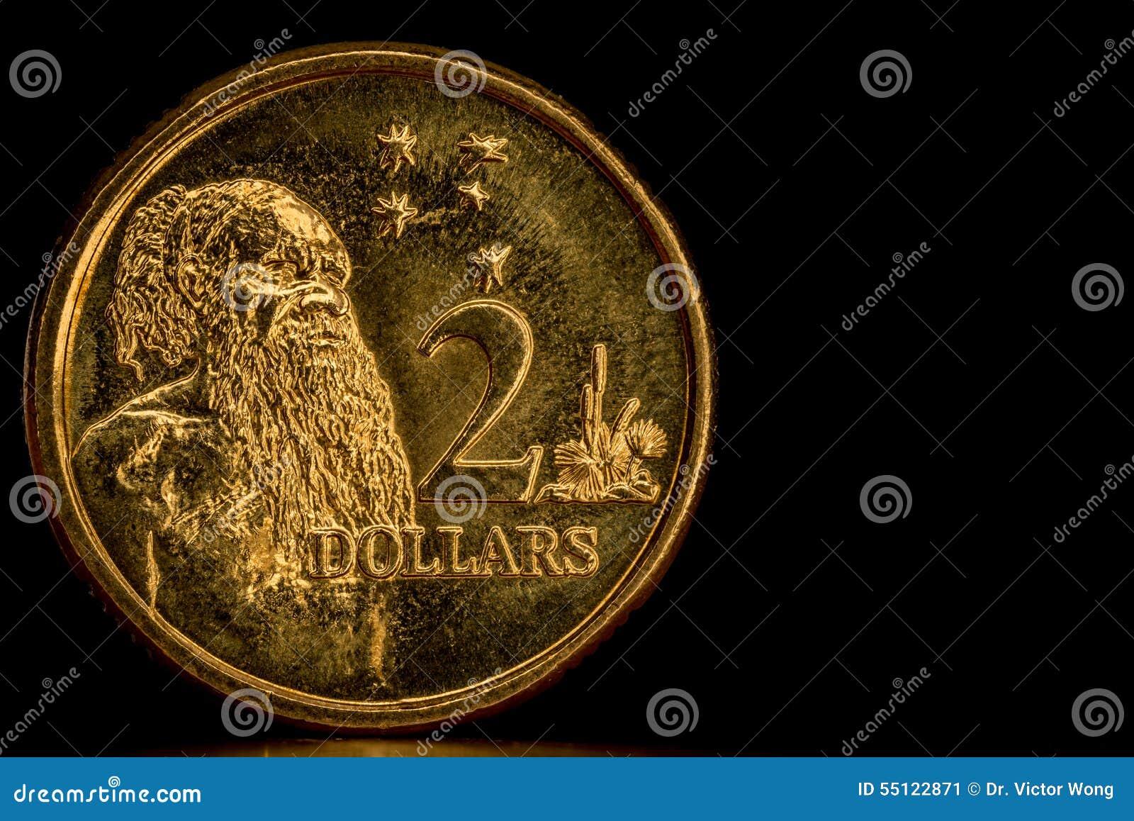 Cirkulerad australier 2 dollar mynt