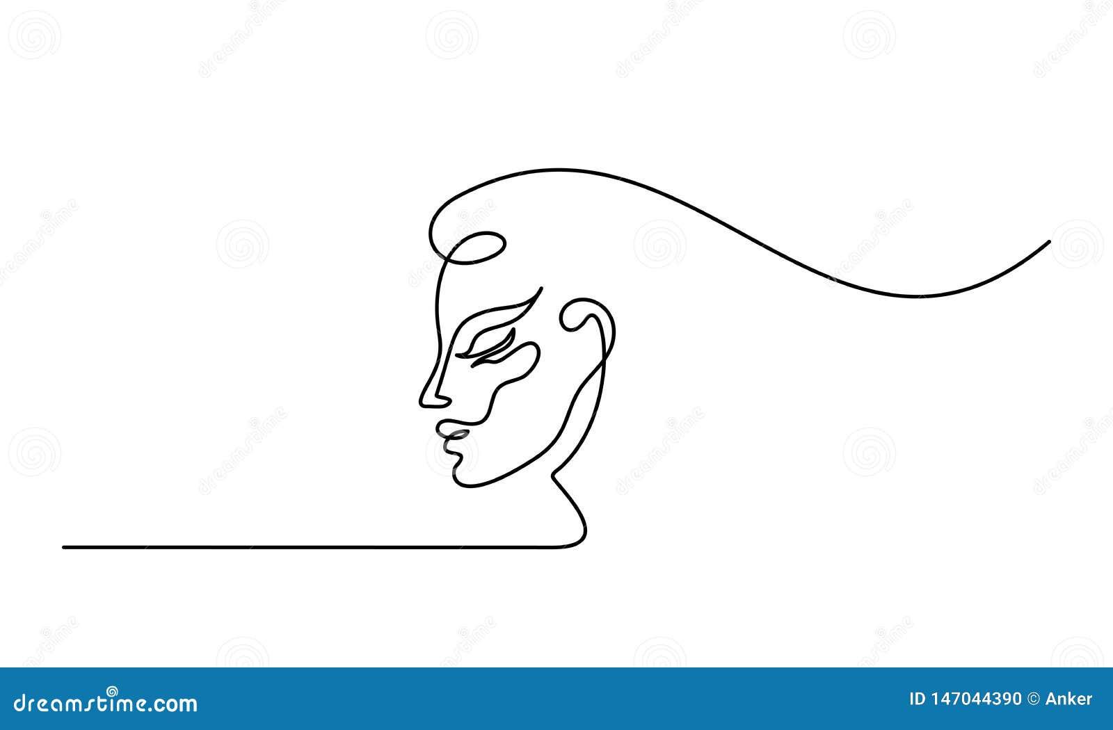 Cirugía plástica de la línea icono de la cara de la mujer