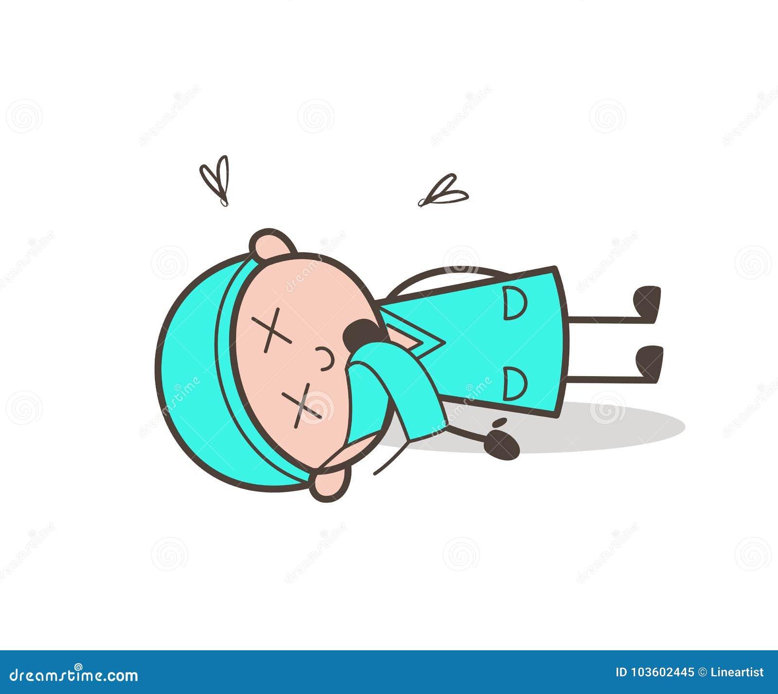 Cirurgião inoperante Body Vetora Illustration dos desenhos animados