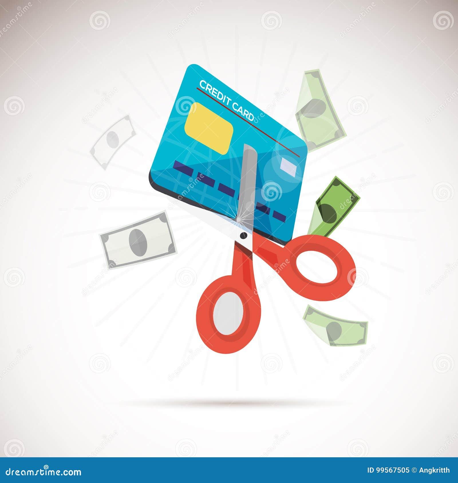 Ciseaux de découpage de crédit de carte
