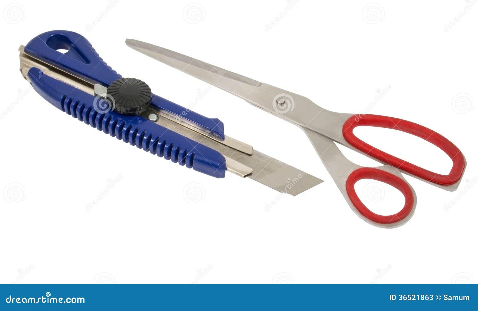 Ciseaux et coupeur de boîte