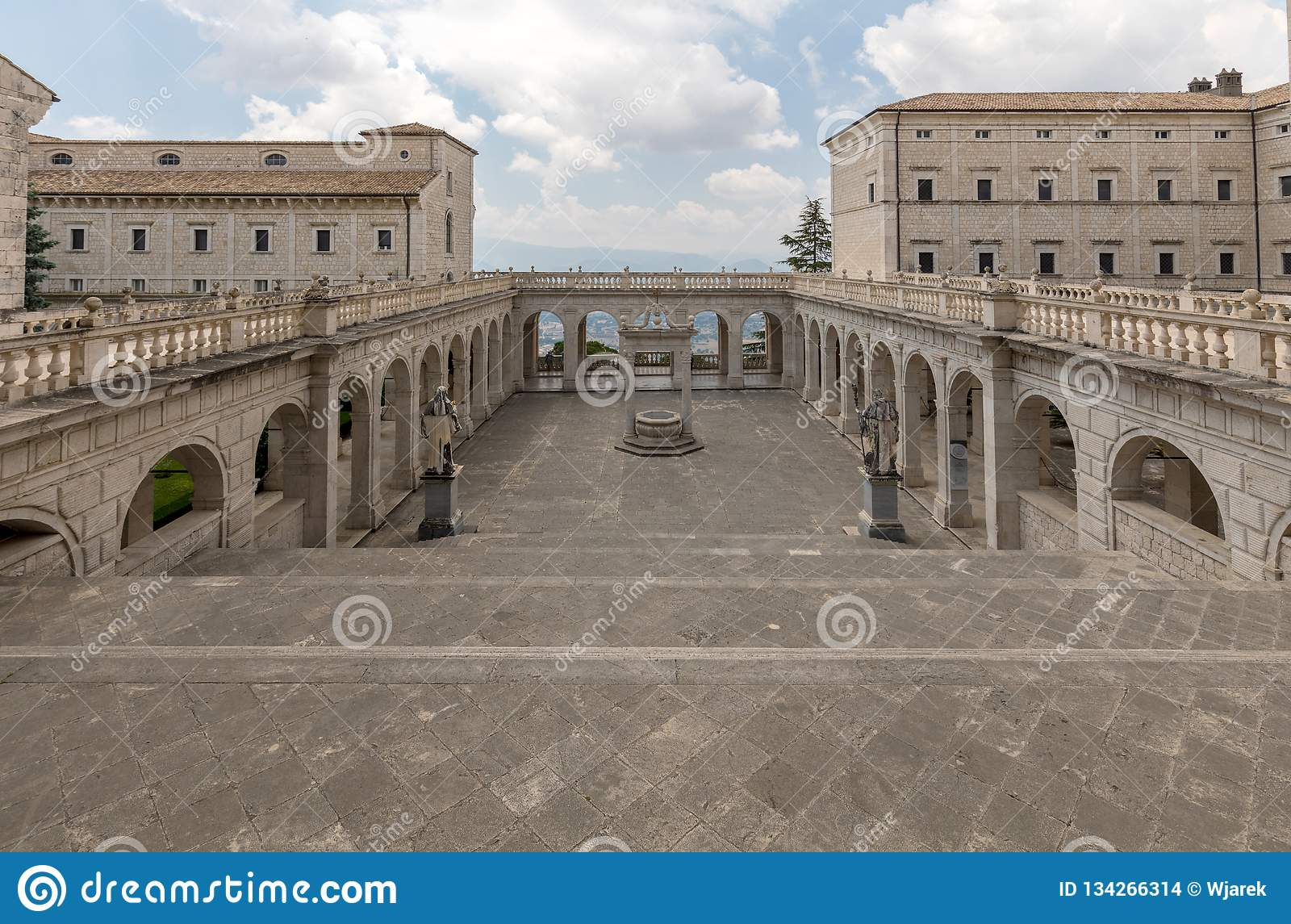 Cistern in the Cloister of Bramante, Benedictine abbey of Montecassino