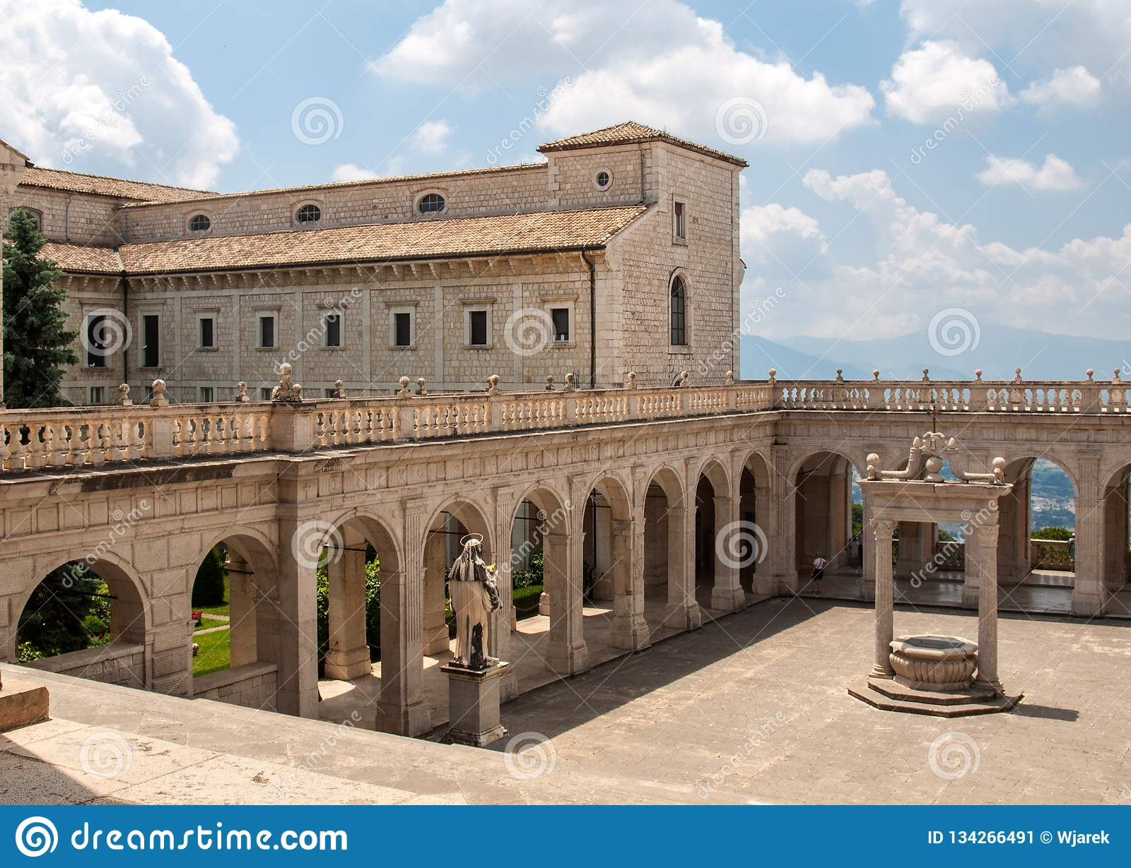 Cistern in the Cloister of Bramante, Benedictine abbey of Montecassino.