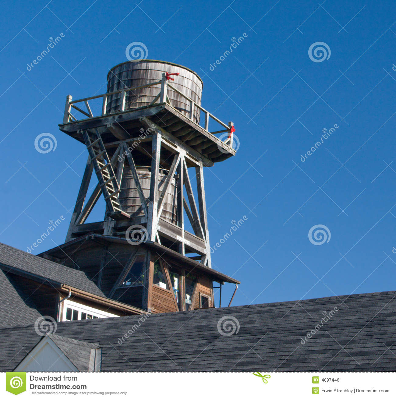 Cistern On A Roof Royalty Free Stock Image Image 4097446