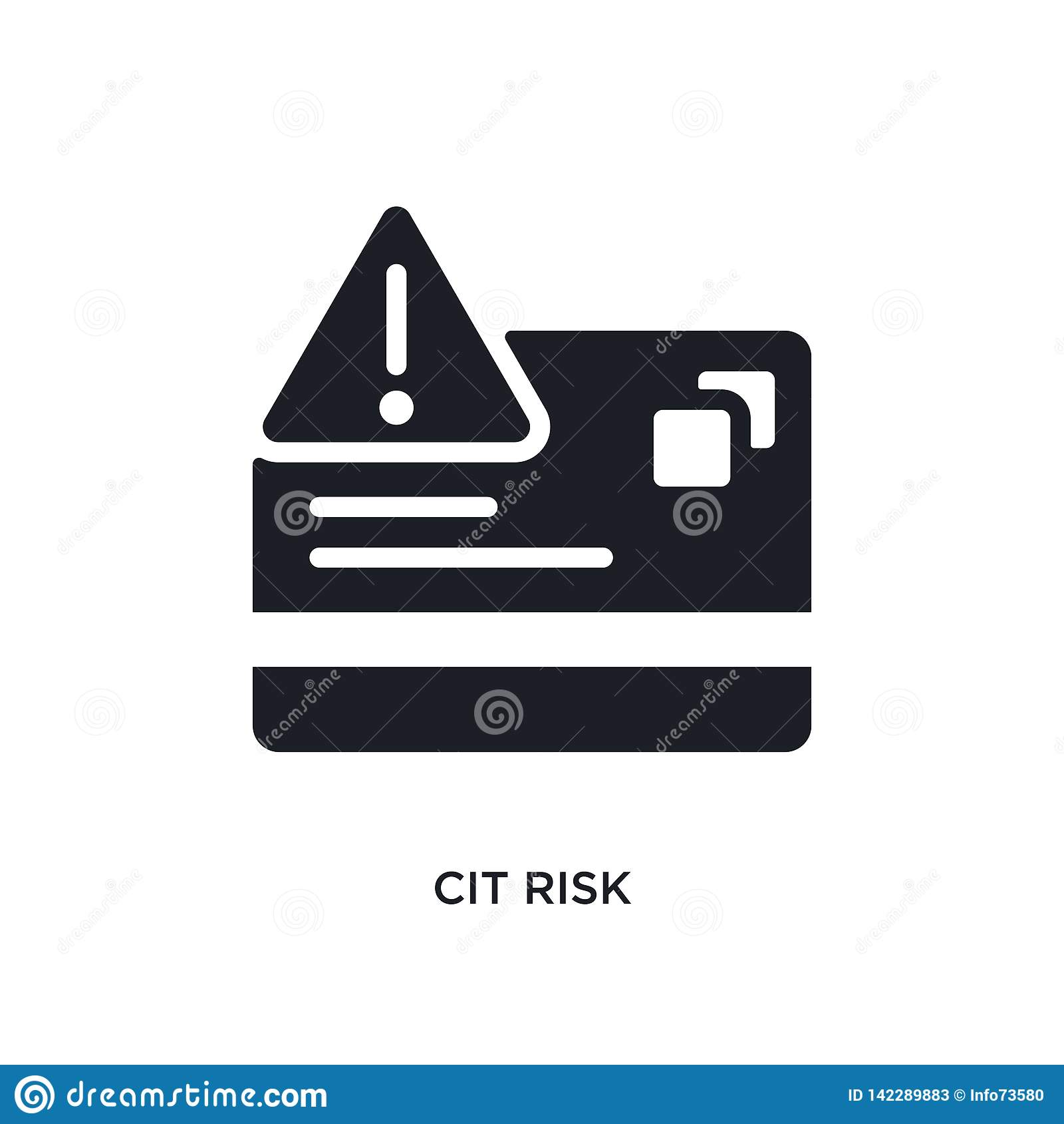 Cit ryzyka odosobniona ikona prosta element ilustracja od general-1 pojęcia ikon cit ryzyka logo znaka symbolu editable projekt d