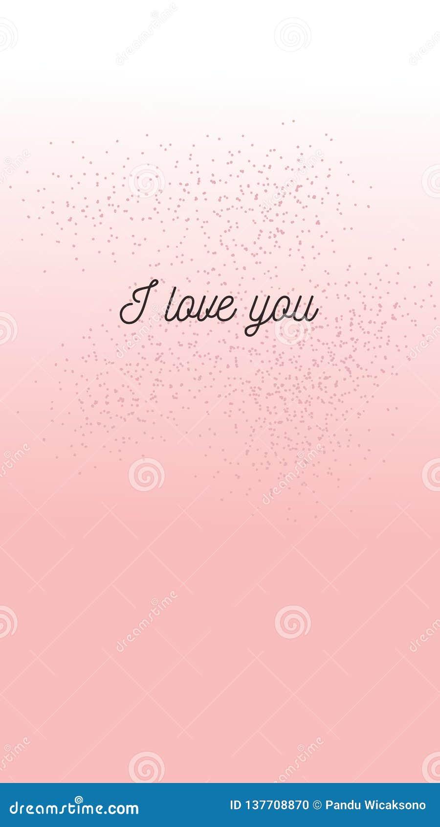 Citações para o dia de Valentim feliz para a ilustração e o smartphone do papel de parede