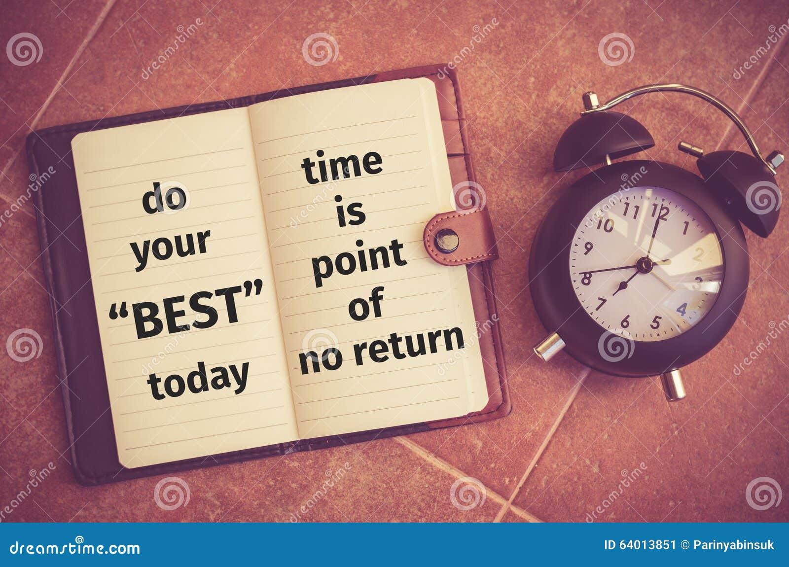 Cita de la inspiración: Haga su mejor hoy