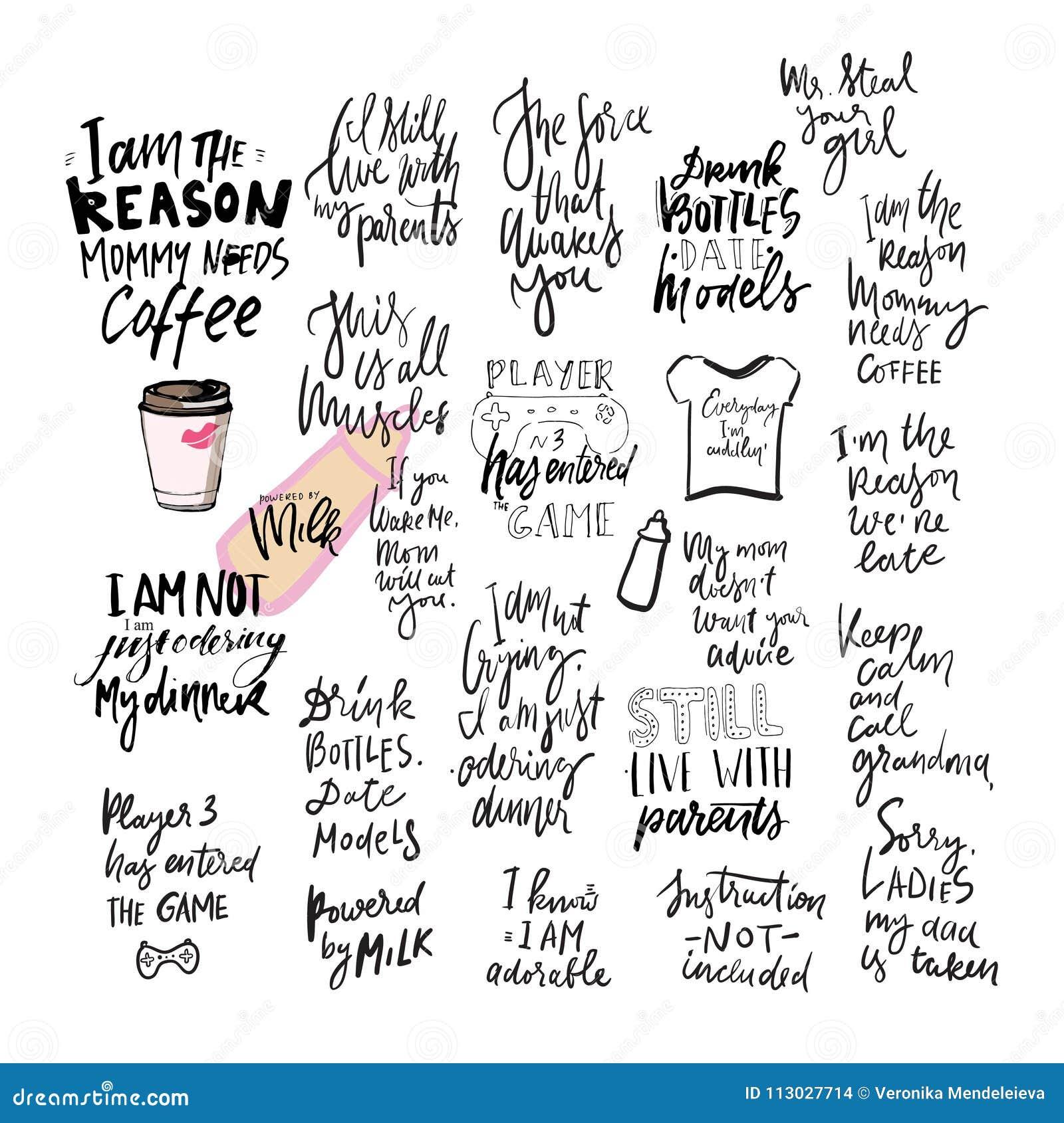 Cita de las letras de la mano de la camiseta del bebé para su diseño