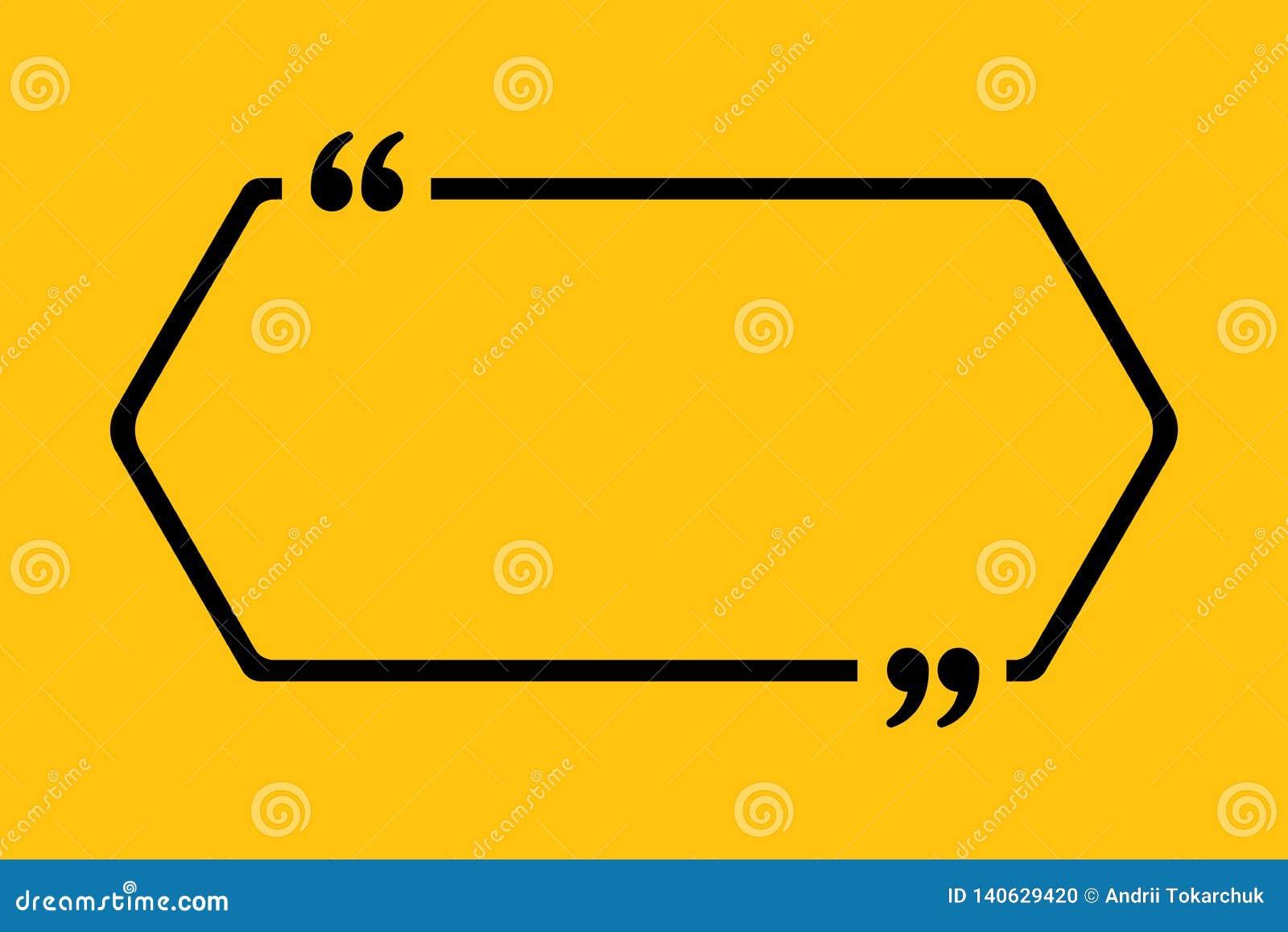 Cita en blanco del vector de la plantilla Hexágono con el soporte