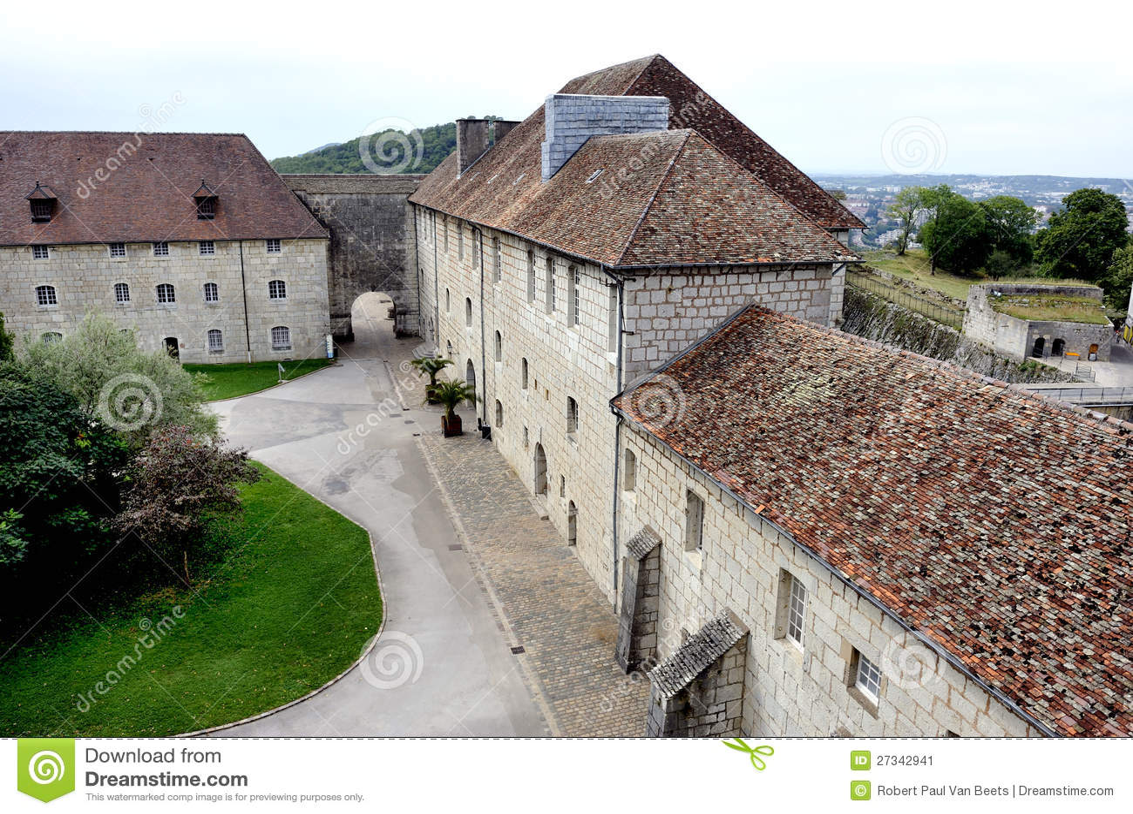 Citadel of Besancon (Besancon) town, France. Built by Vauban to ...