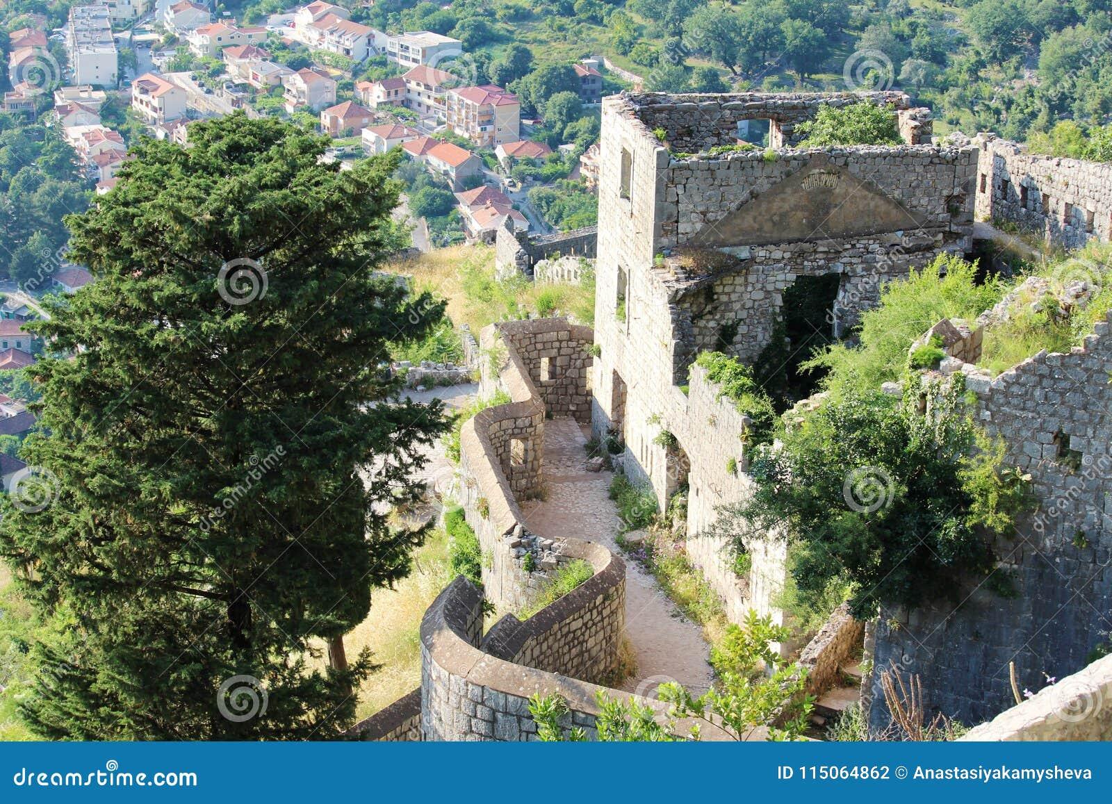 A citadela em Kotor, Montenegro