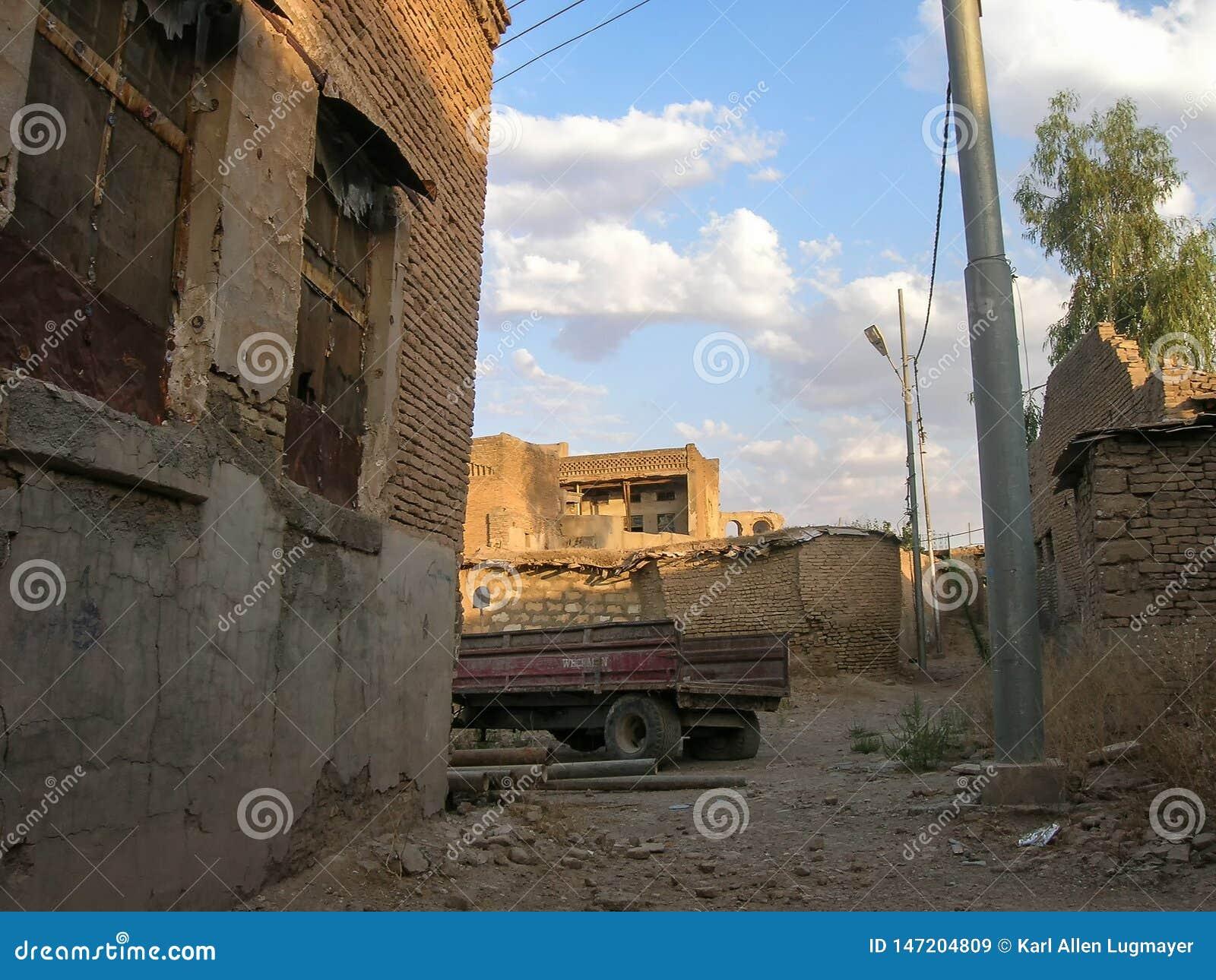 A citadela famosa de Erbil, Curdist?o Localmente, centro