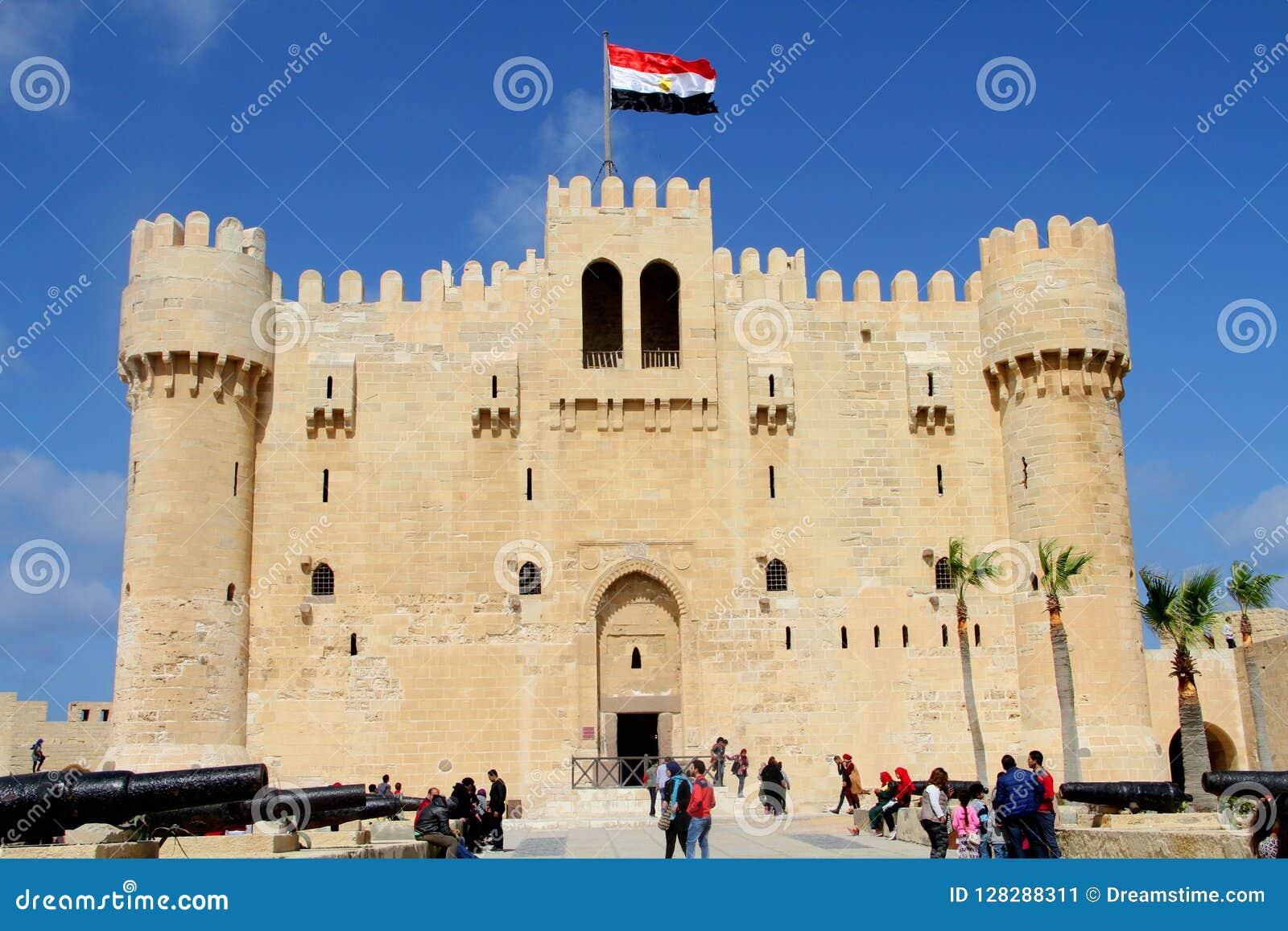 Citadelle de baie l Alexandrie, Egypte de Qaid