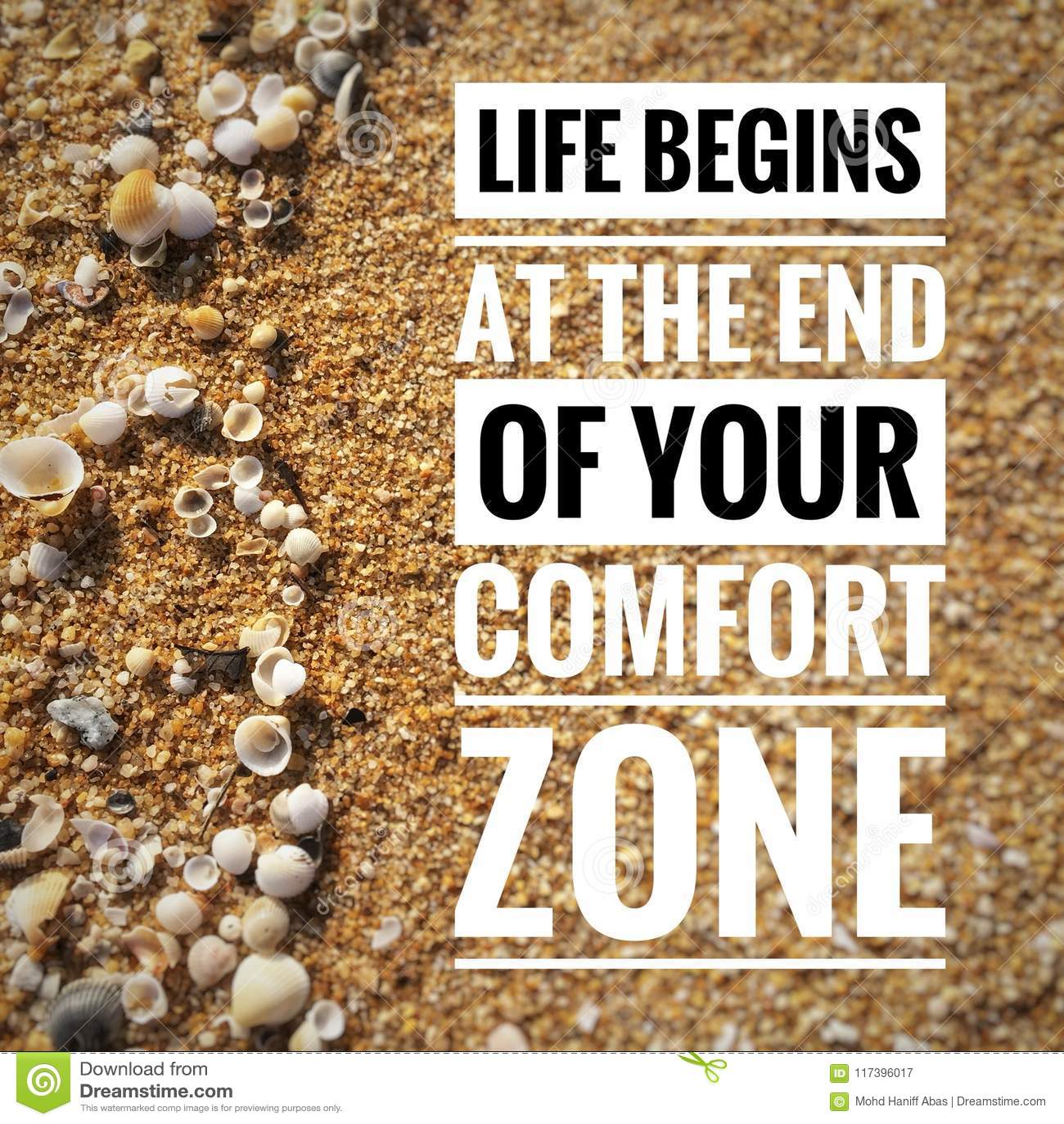 Citas de motivación en fondo de la naturaleza que una vida comienza en el final de su zona de comodidad
