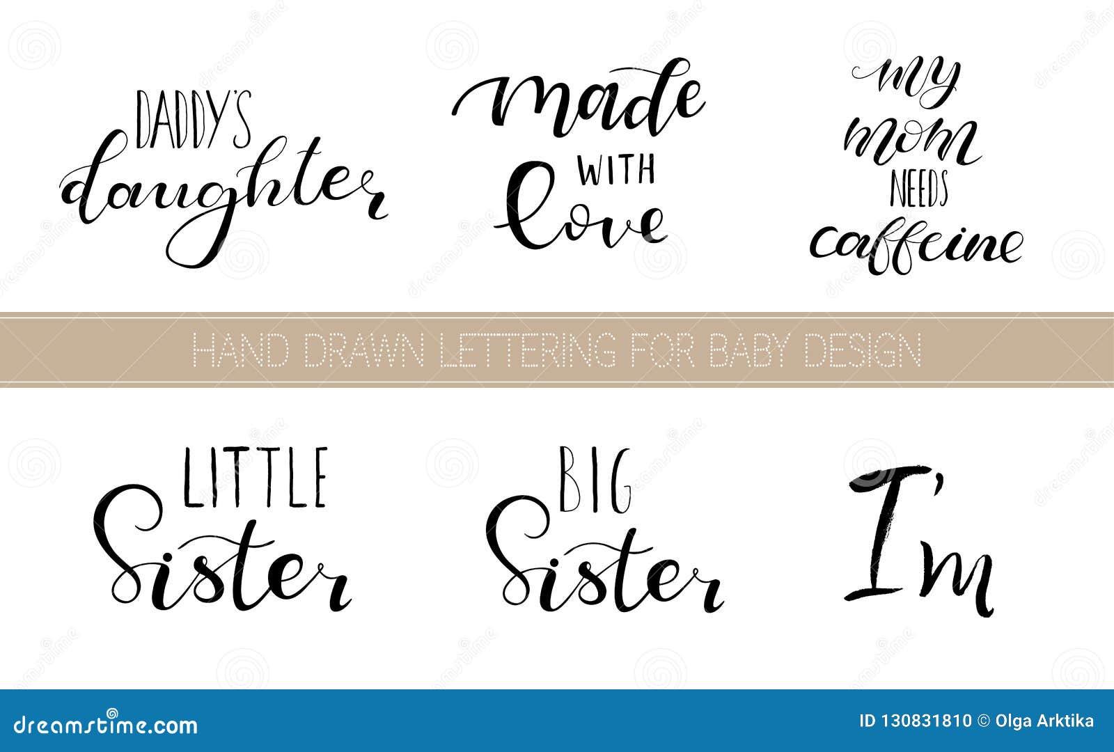 Citas que ponen letras determinadas para el diseño de ropa de los bebés