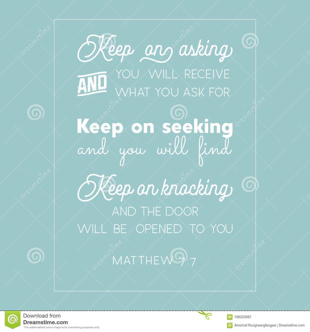 Citation de bible de Matthew