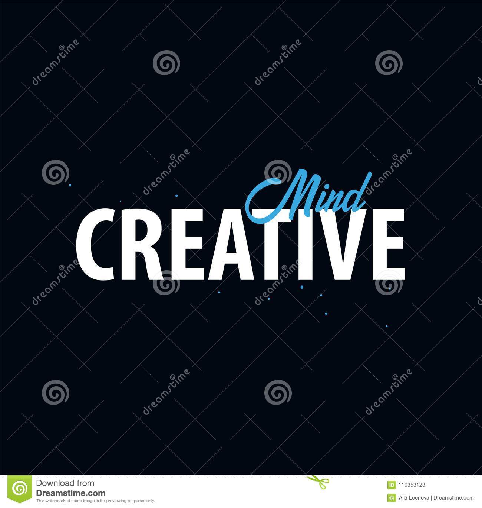 Citation de inspiration de motivation Esprit créateur T-shirt de slogan Concept de construction d affiche de typographie de vecte