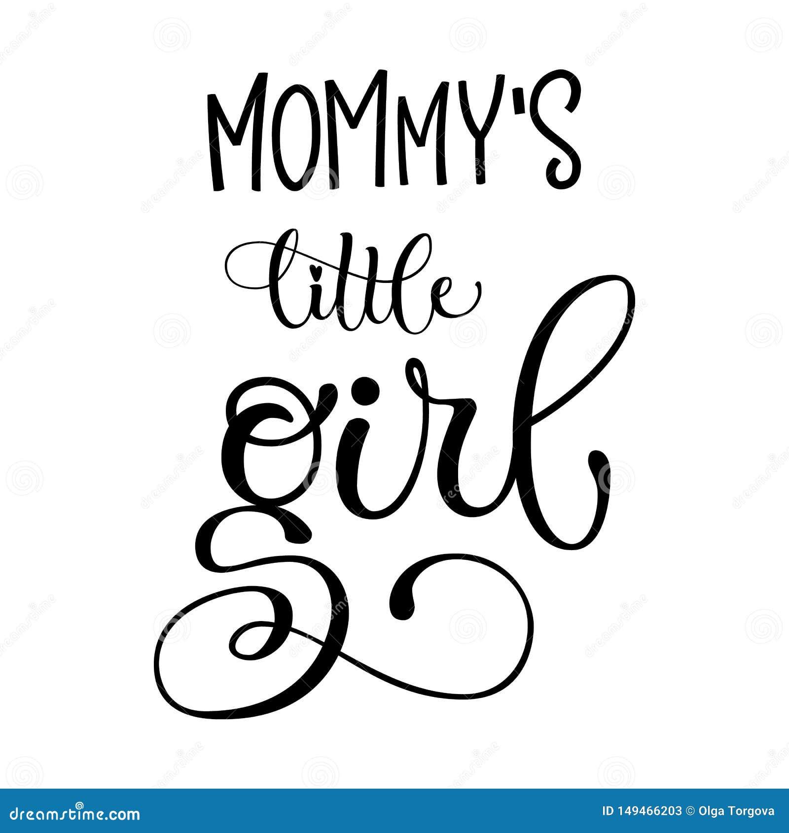 Citation De La Petite Fille De La Maman Lettrage Moderne