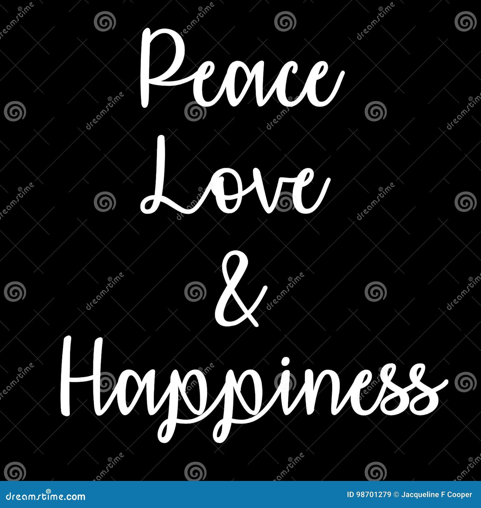 Citation Inspirée Et Consciente Paix Amour Et Bonheur