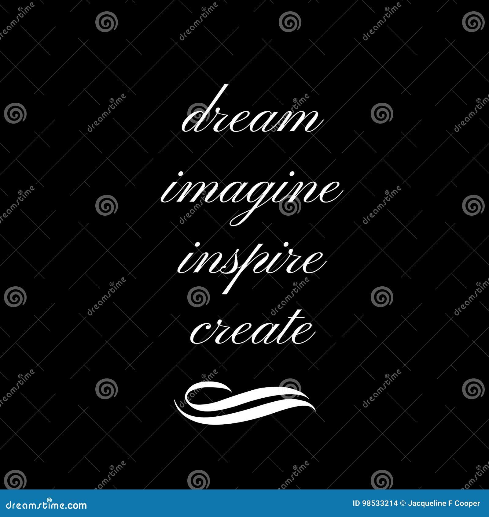 Citation inspirée : Rêvez, imaginez, inspirez, créez
