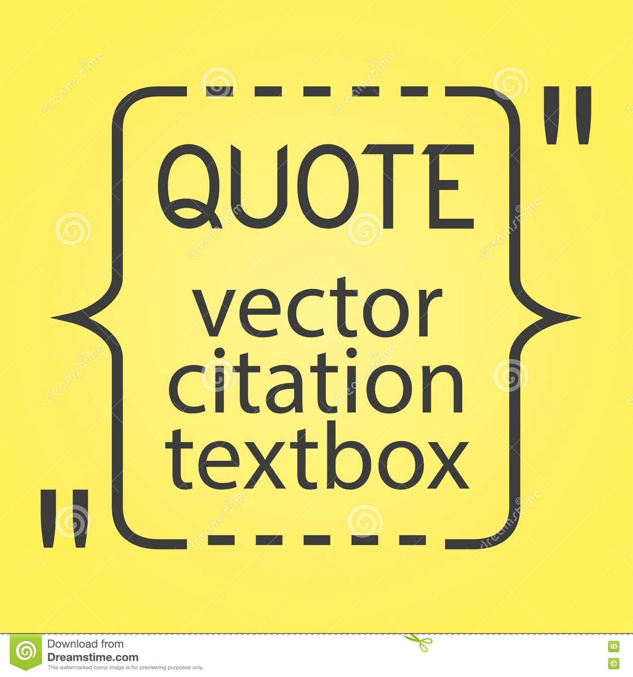 Citation Text Box. Frame For Decoration Quote And Other Information ...