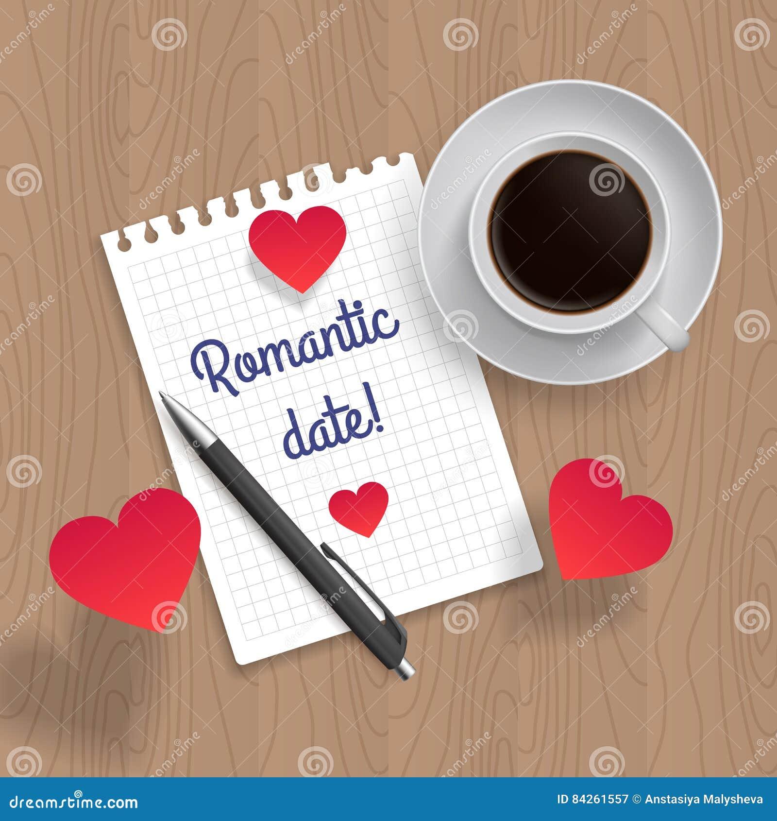 Citationstecken: Romantiskt datum också vektor för coreldrawillustration