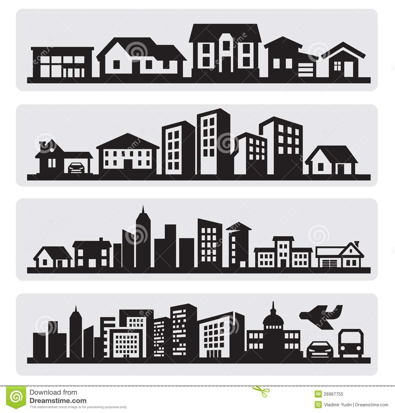 Row Of Houses Clip Art House Royalty Free Stock Photos - Image ...