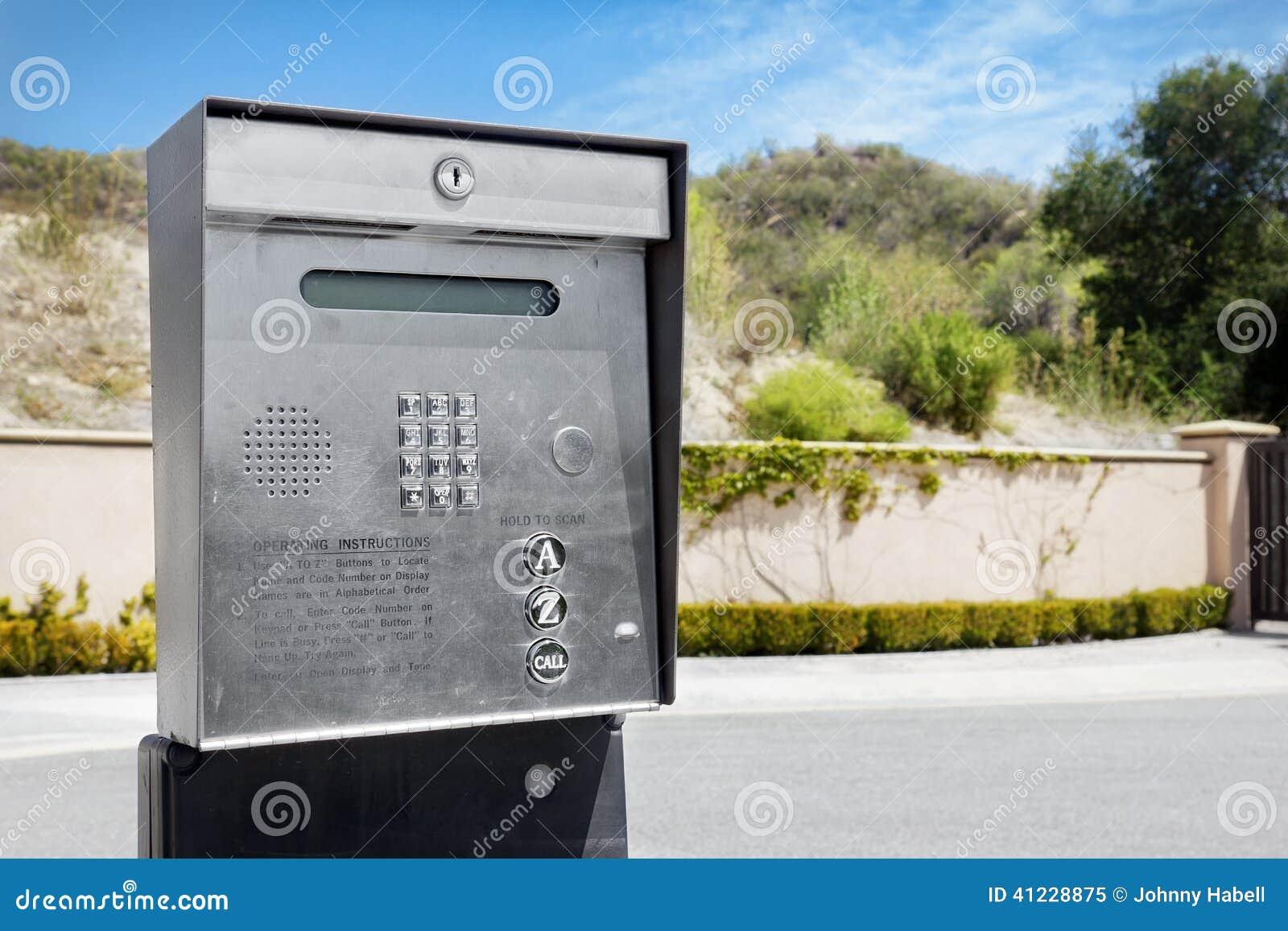 Citofono Esterno Moderno : Citofono esterno immagine stock. immagine di comunicazione 41228875
