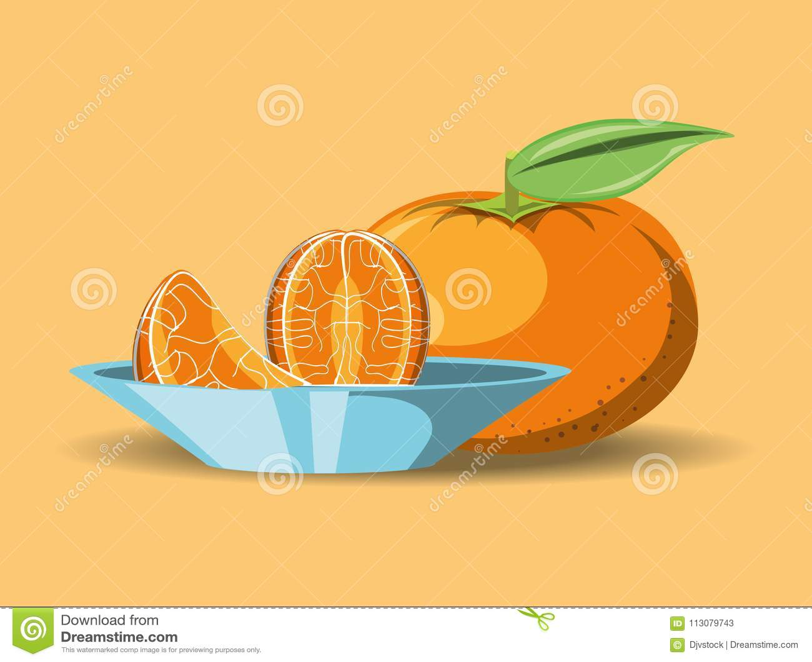 Citric fruits design