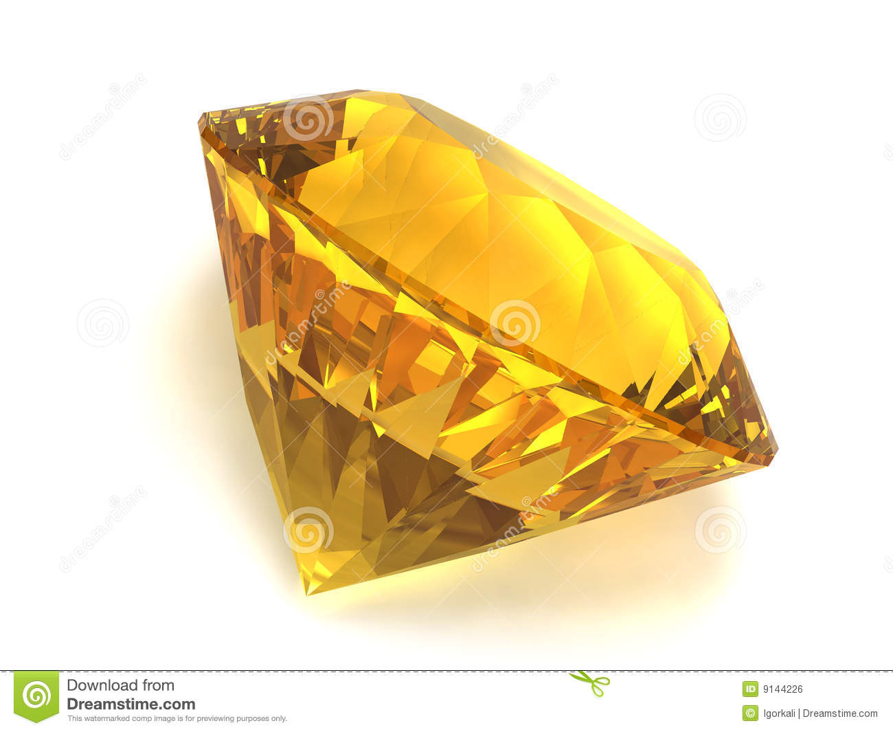 Citrine Gemstone Stock Illustration Image Of Isolated