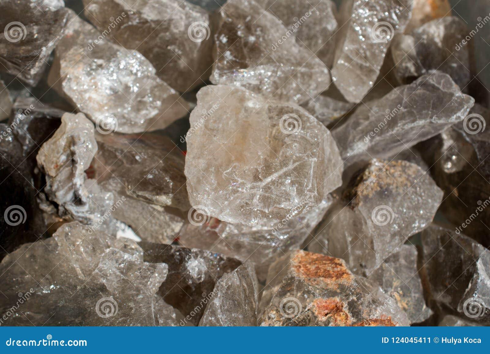Citrine semigem kamień jako kopaliny skały geody kryształy