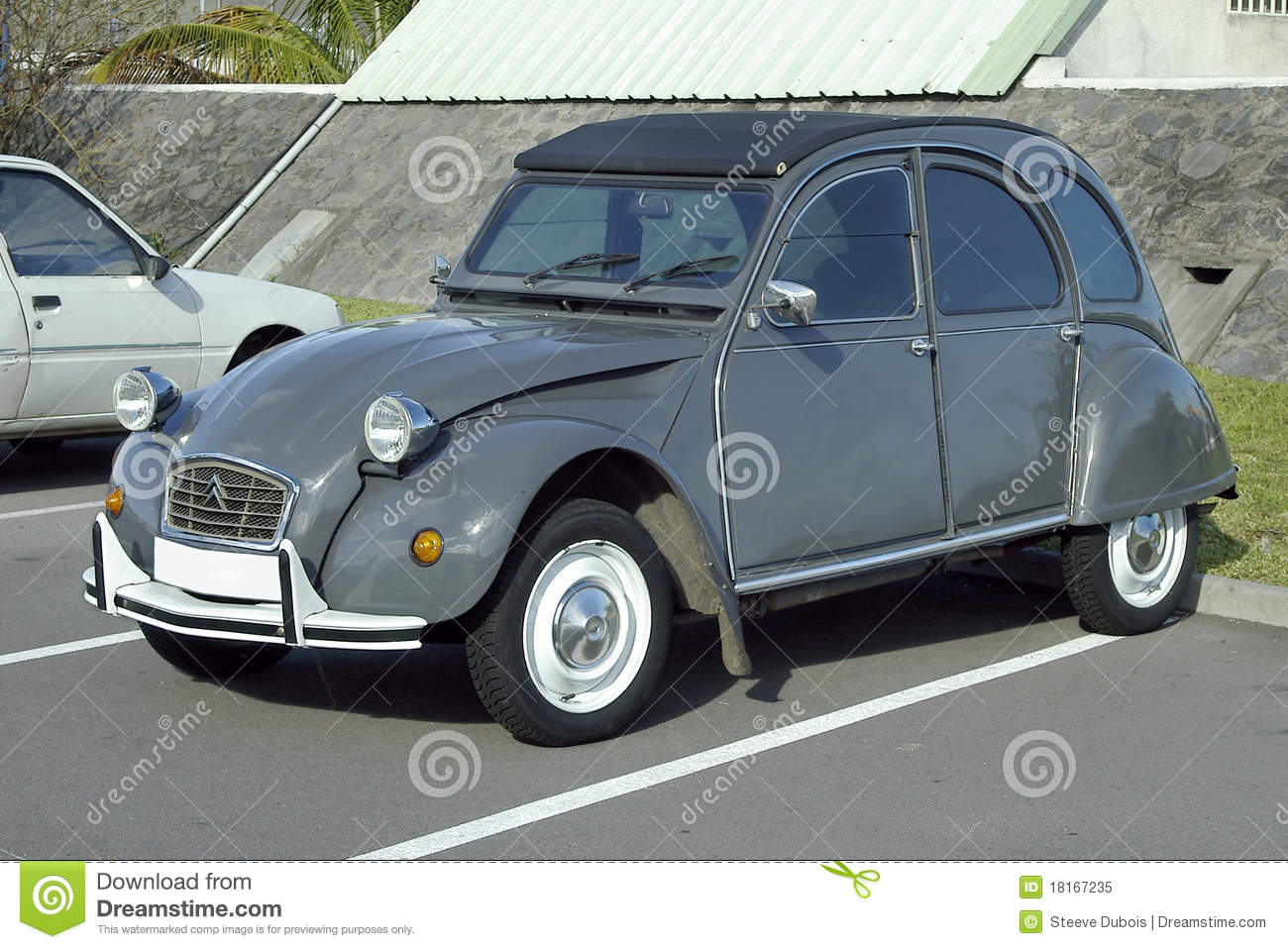 citroen 2 cv car editorial image  image of gray  grey