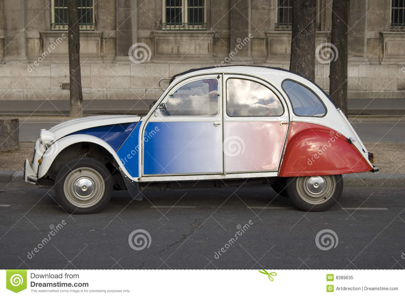 citroen 2cv  paris royalty free stock photo