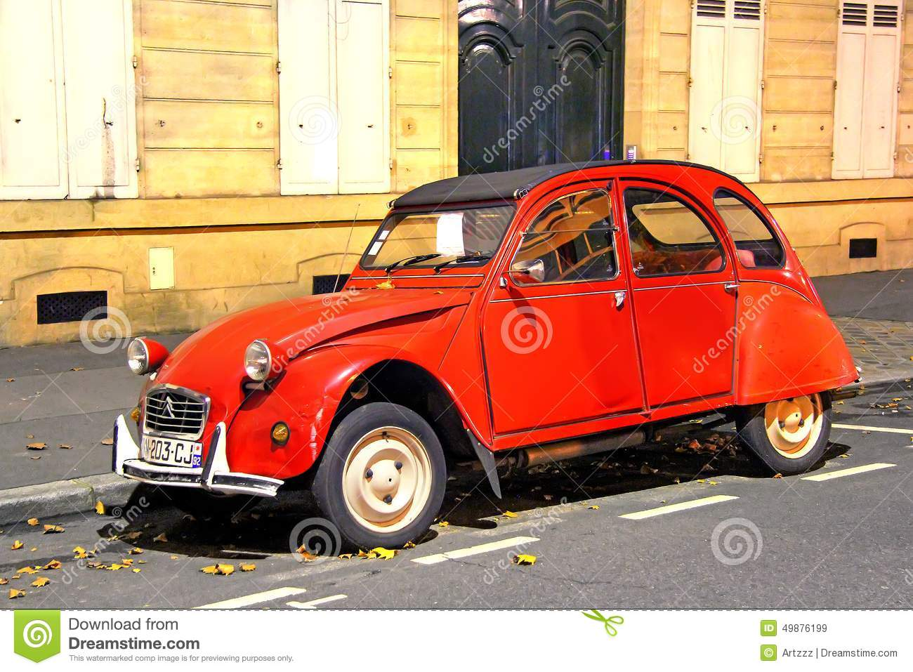 citroen 2cv editorial stock image image of outside hatchback 49876199. Black Bedroom Furniture Sets. Home Design Ideas