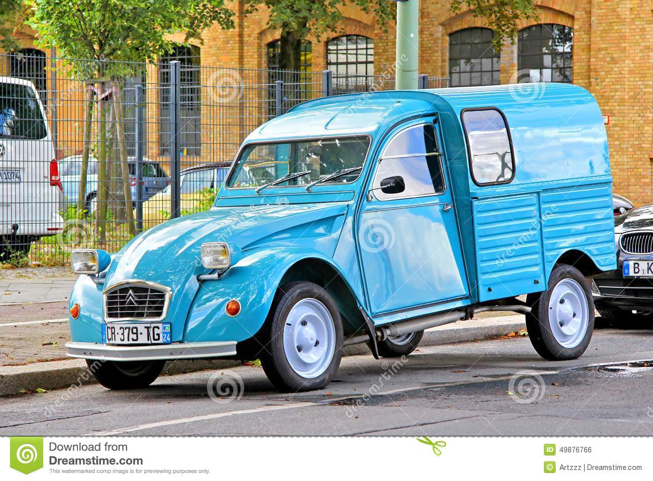 citroen 2cv van editorial photo