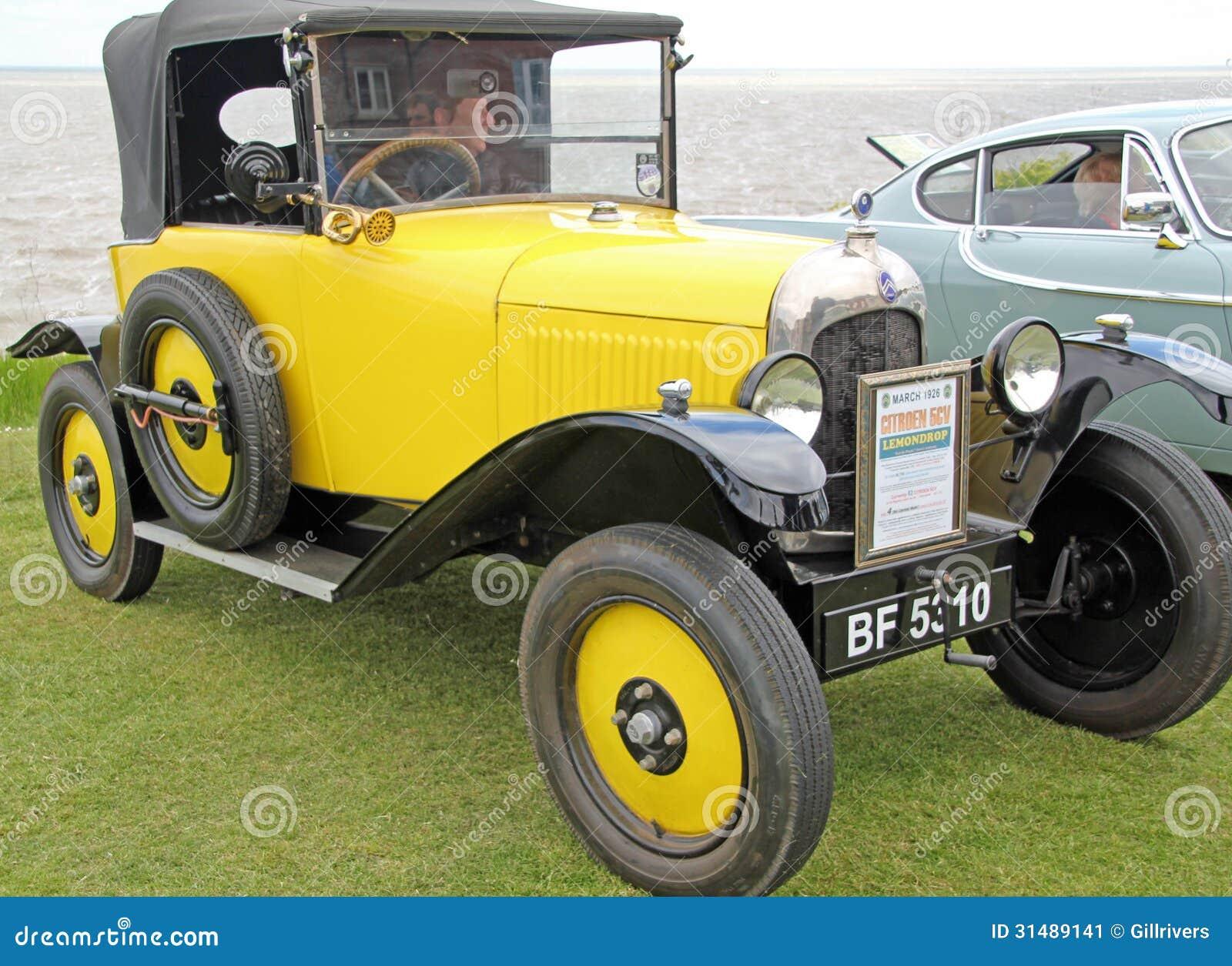 shows a classic Citroen Lemondrop car on show at the Vintage Classic ...