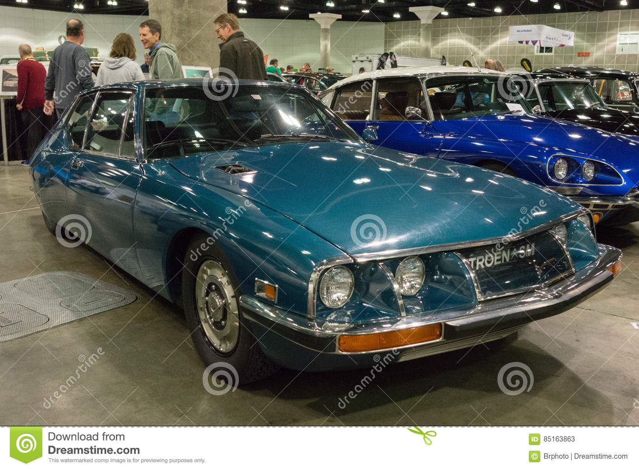 Citroen sm on display editorial stock photo image of for Dream motors los angeles