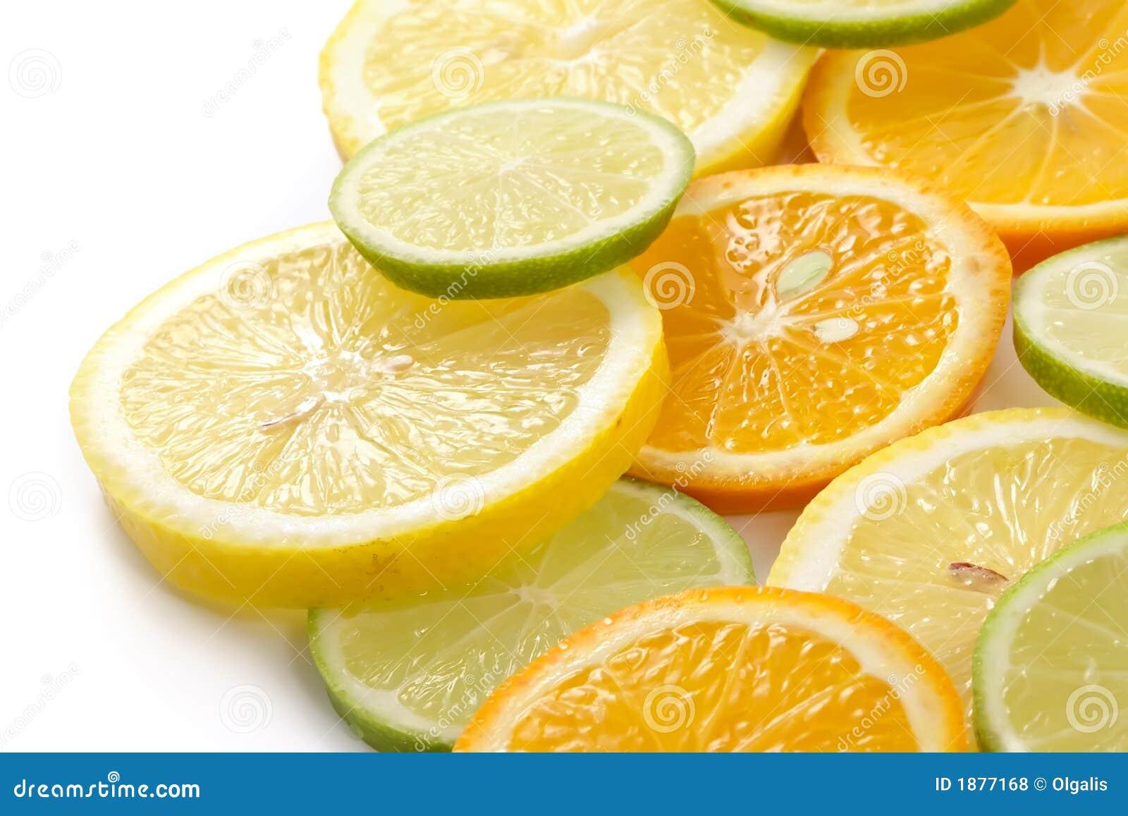 Citron allsorts-kalk, citroen, mandarijn