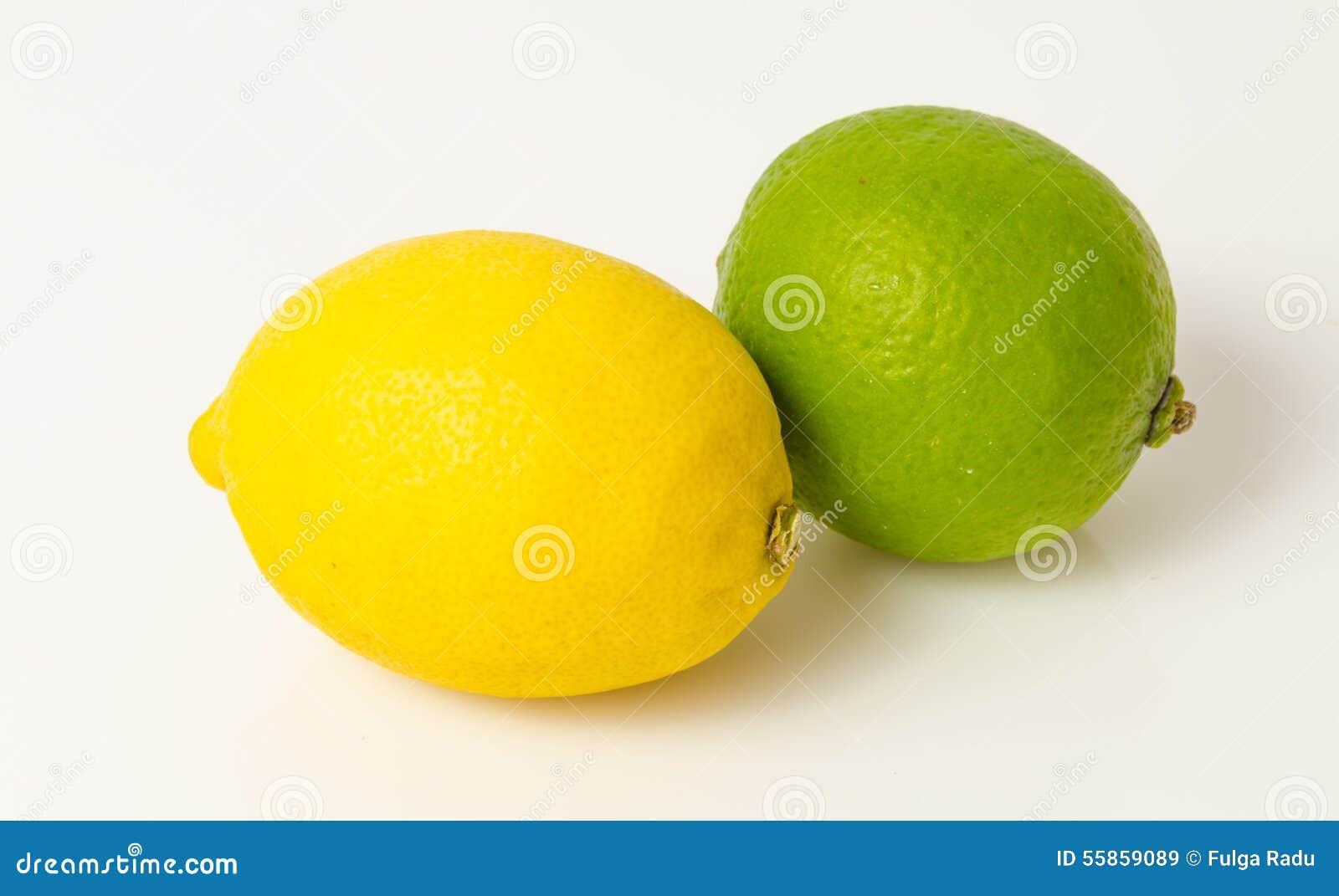Citron och limefrukt