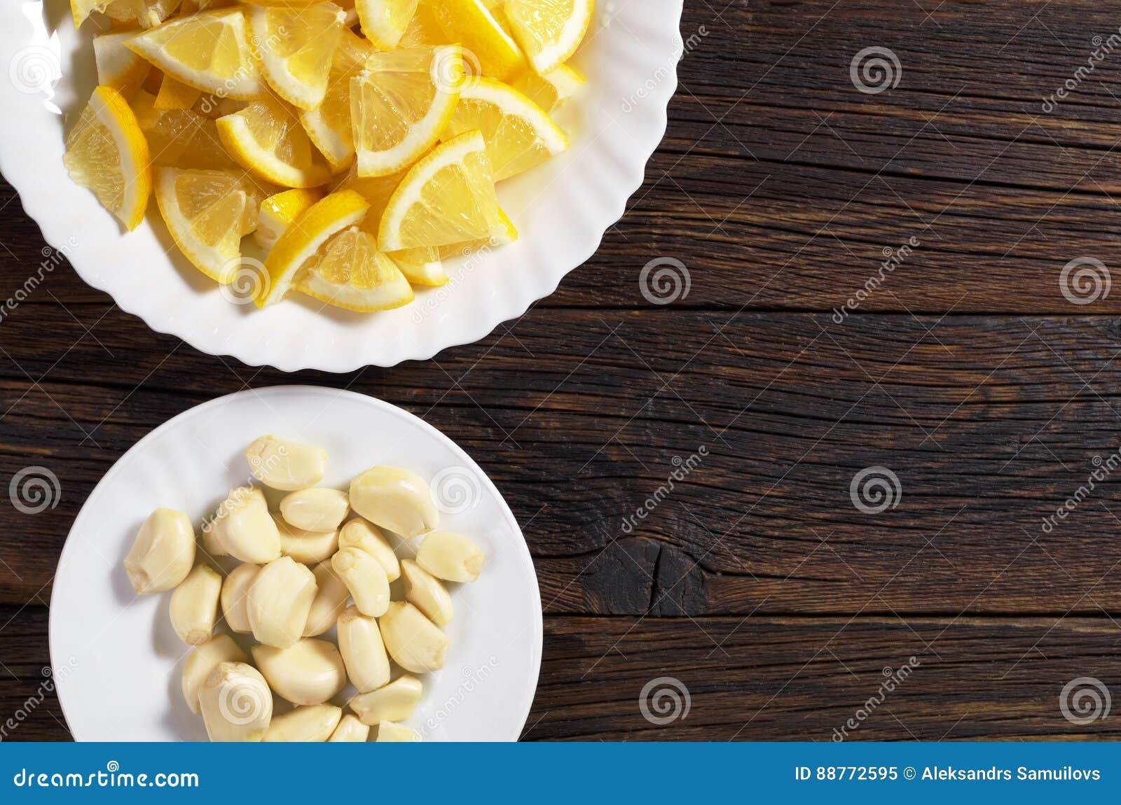 Citron och vitlök