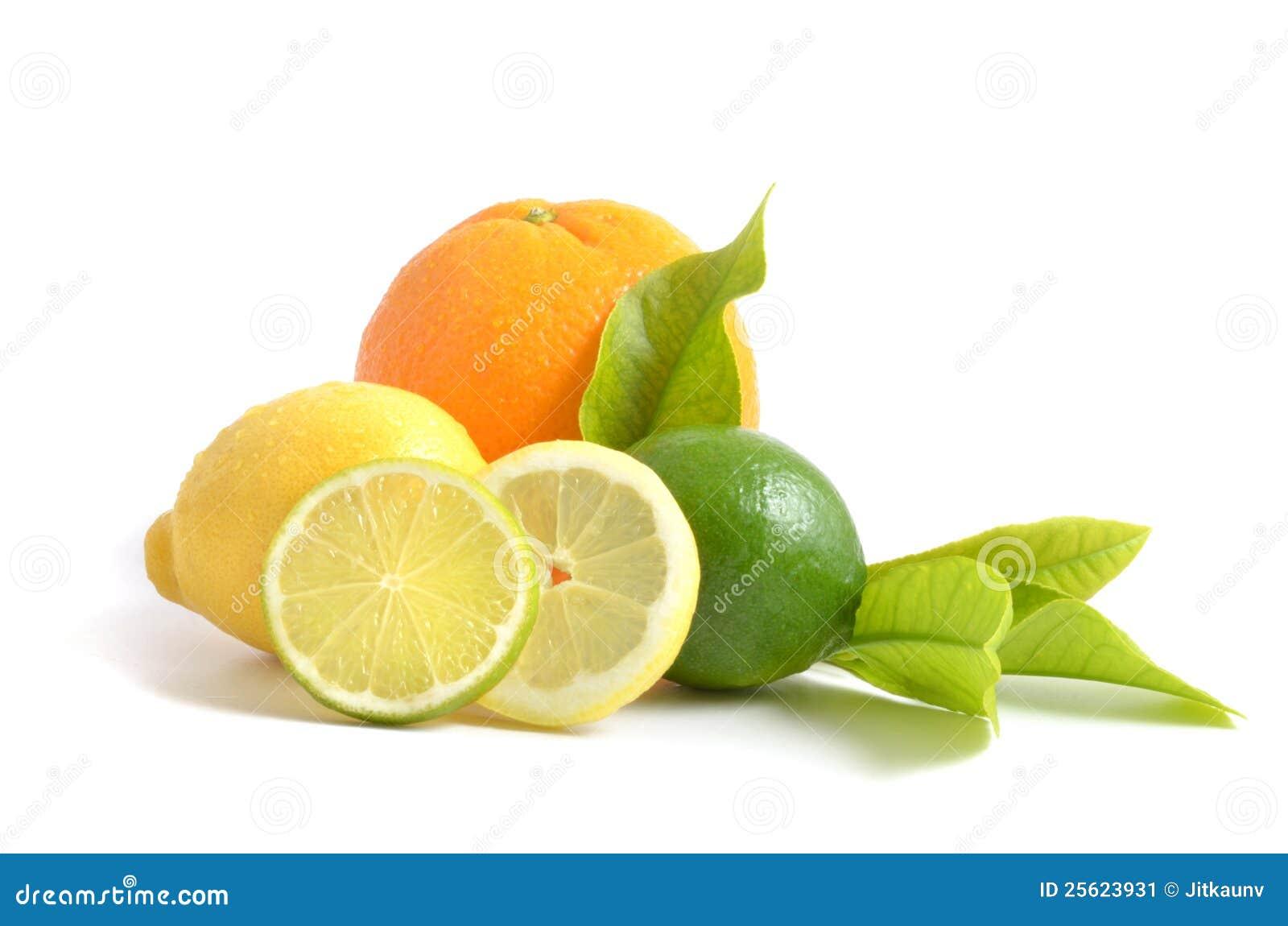 Citron, orange och limefrukt