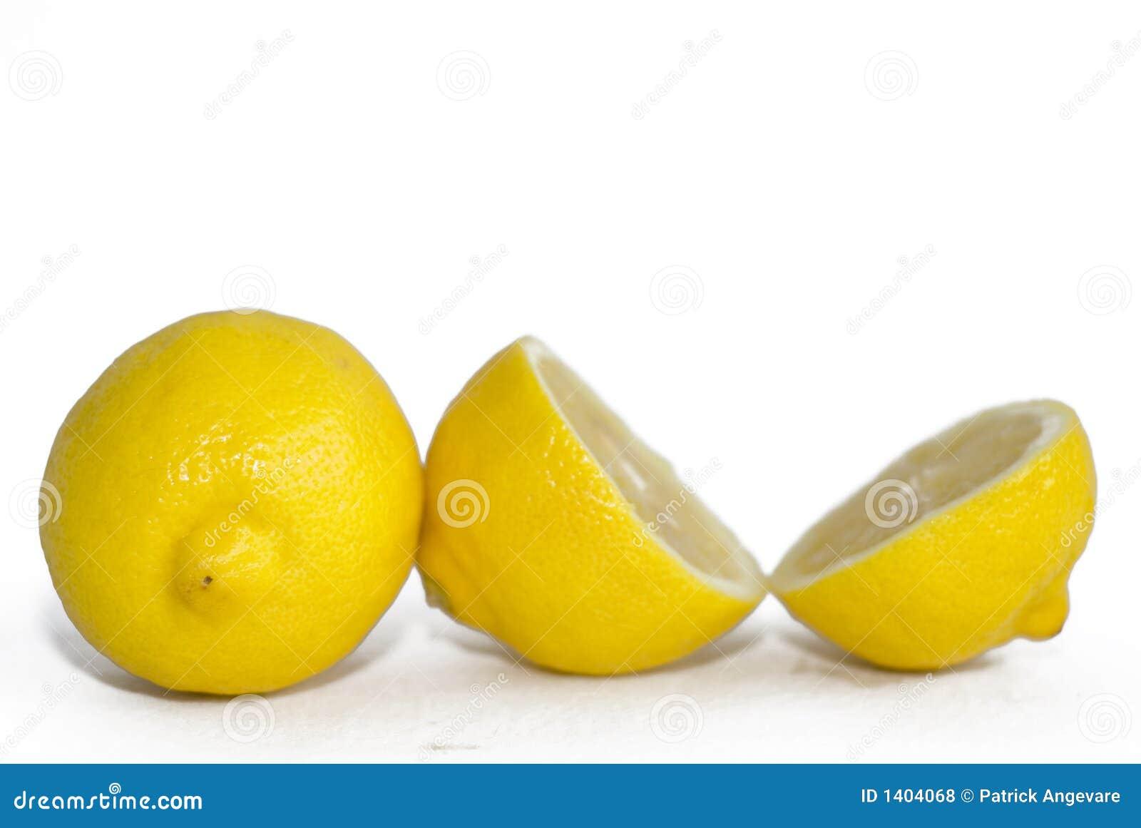 Citrons jaunes lumineux
