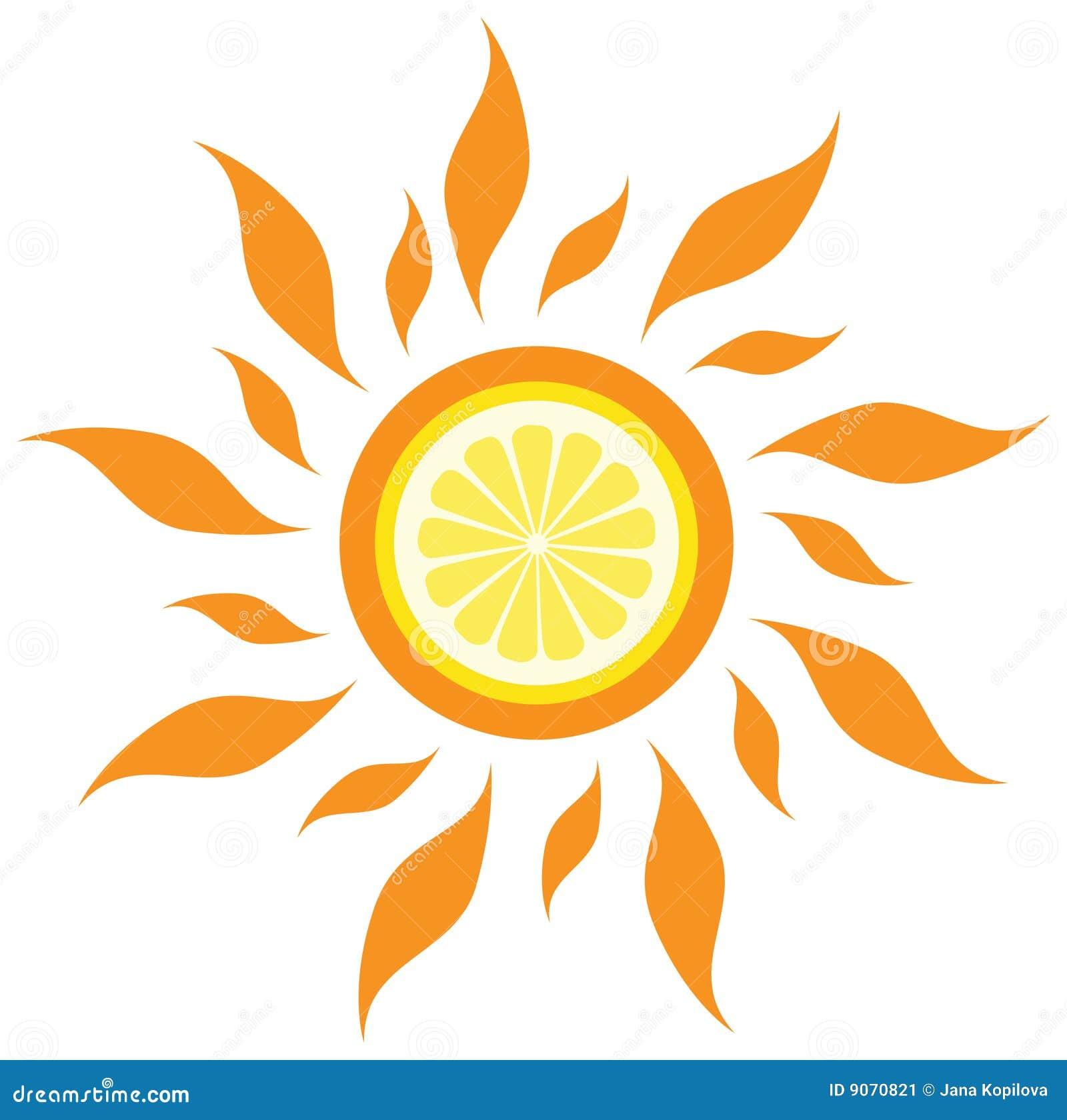 Citronsunvektor