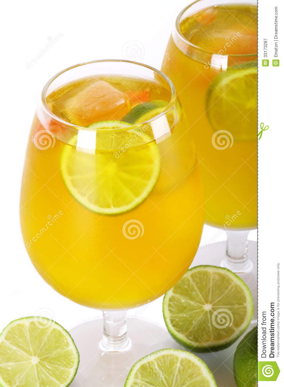 Citrus Cocktail With Lime Royalty Free Stock Photography - Image ...