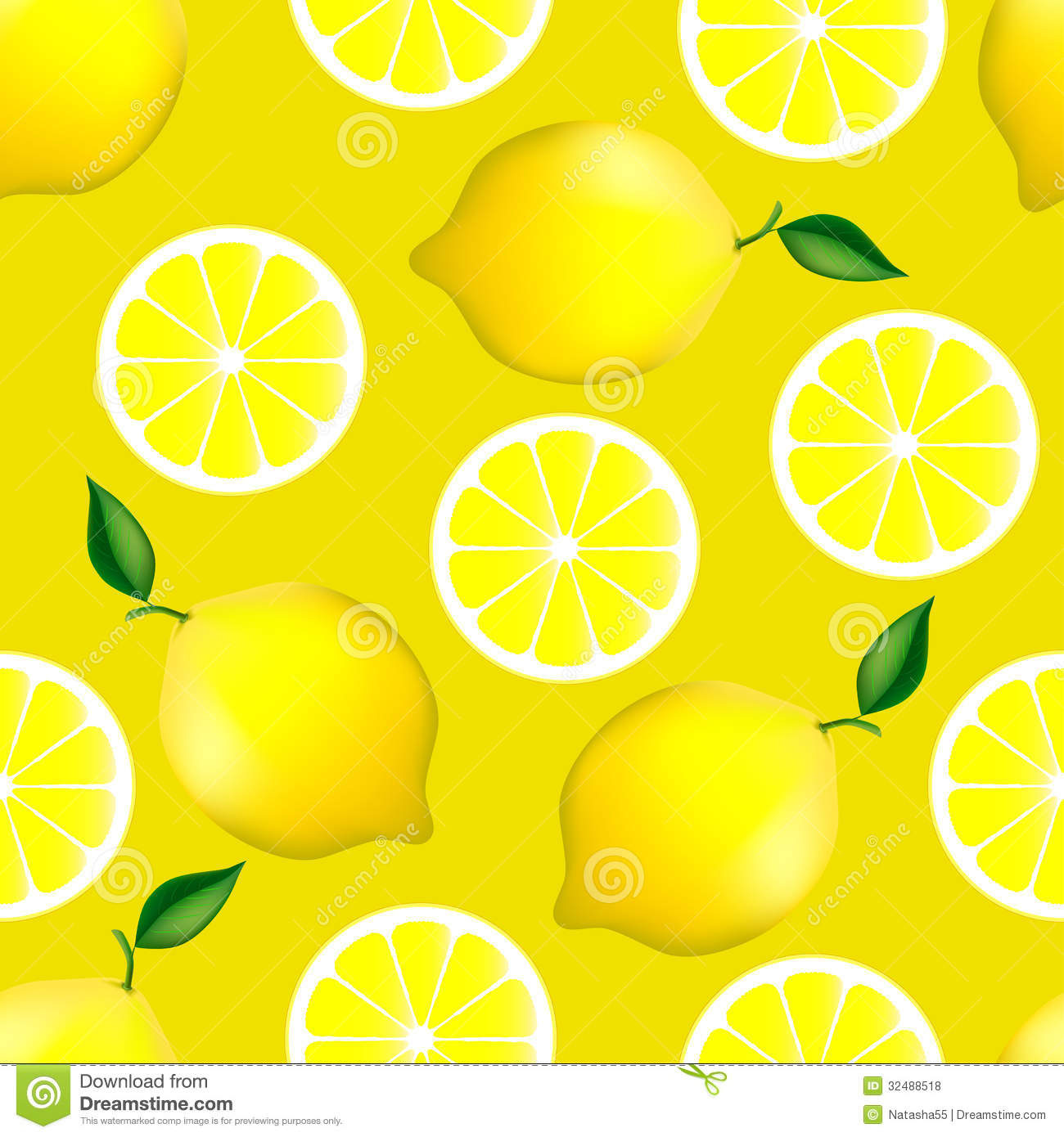 Citrus Seamless Pattern With Lemons Stock Vector - Image ...