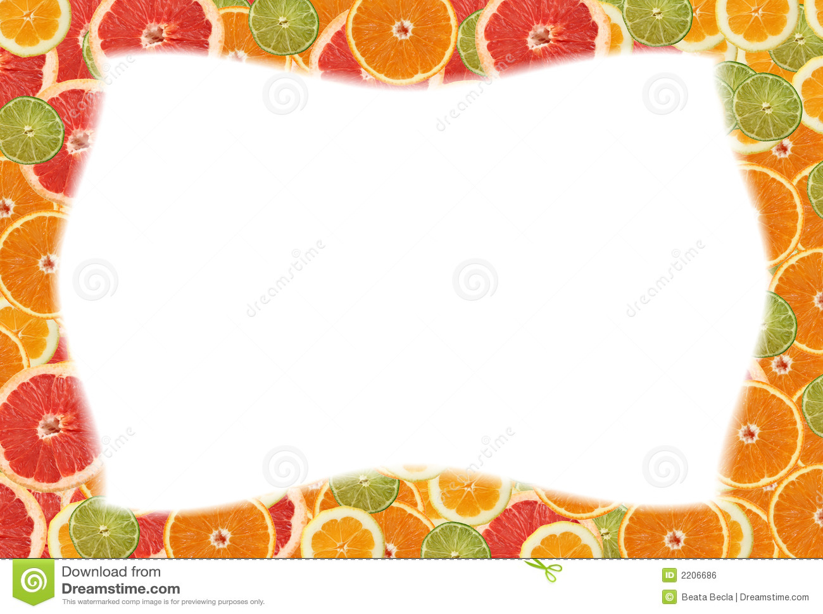 Citrus slice frame