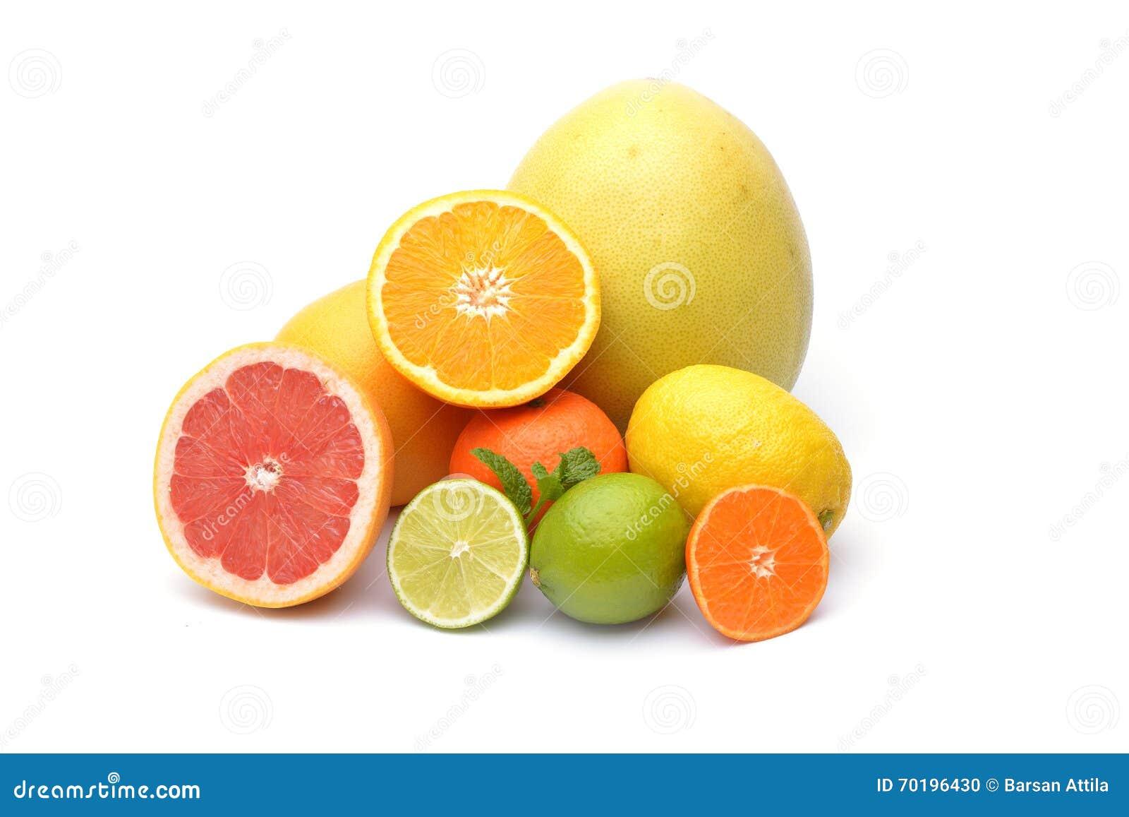 Citrus som isoleras på vit bakgrund